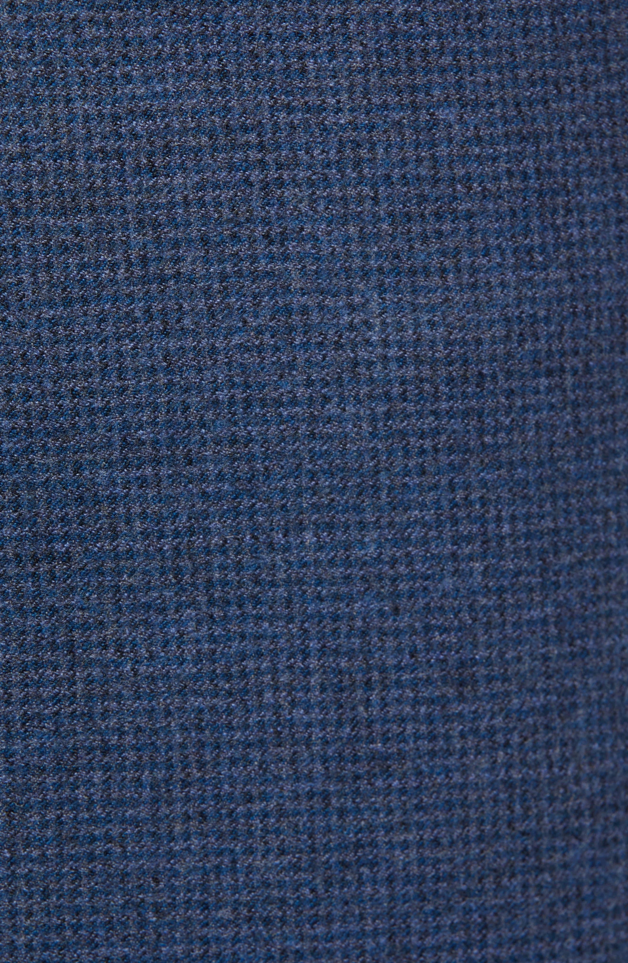 Cadiz Five-Pocket Stretch Wool Trousers,                             Alternate thumbnail 5, color,                             MIDNIGHT