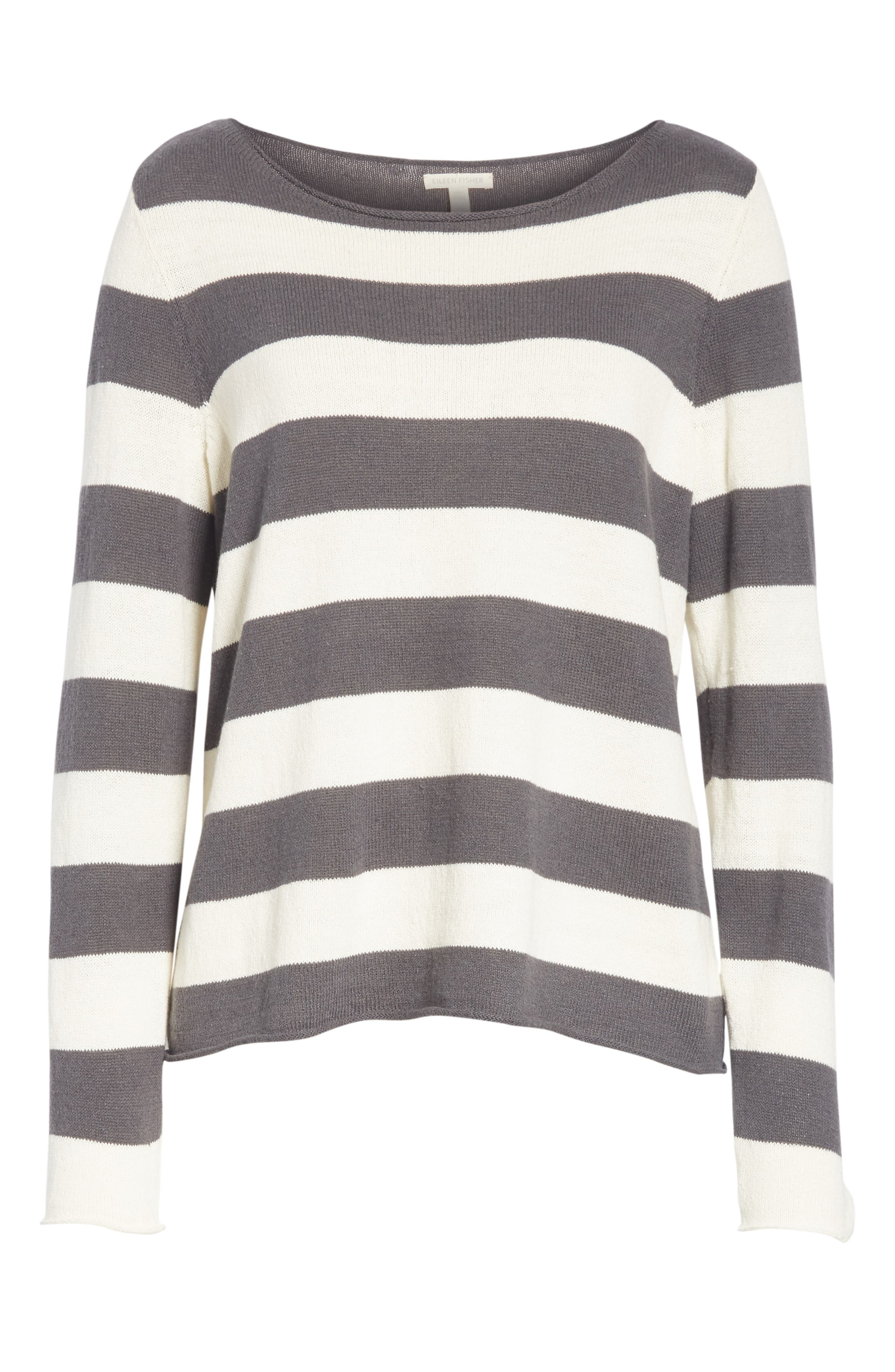 Stripe Cotton & Hemp Sweater,                             Alternate thumbnail 6, color,                             166