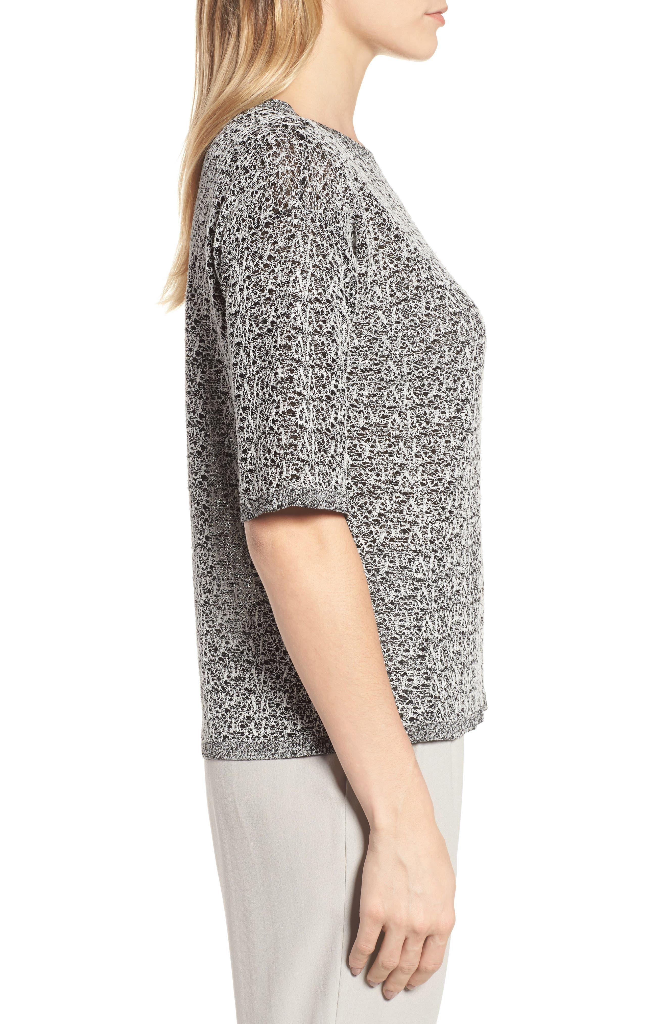 Organic Linen Blend Knit Top,                             Alternate thumbnail 3, color,
