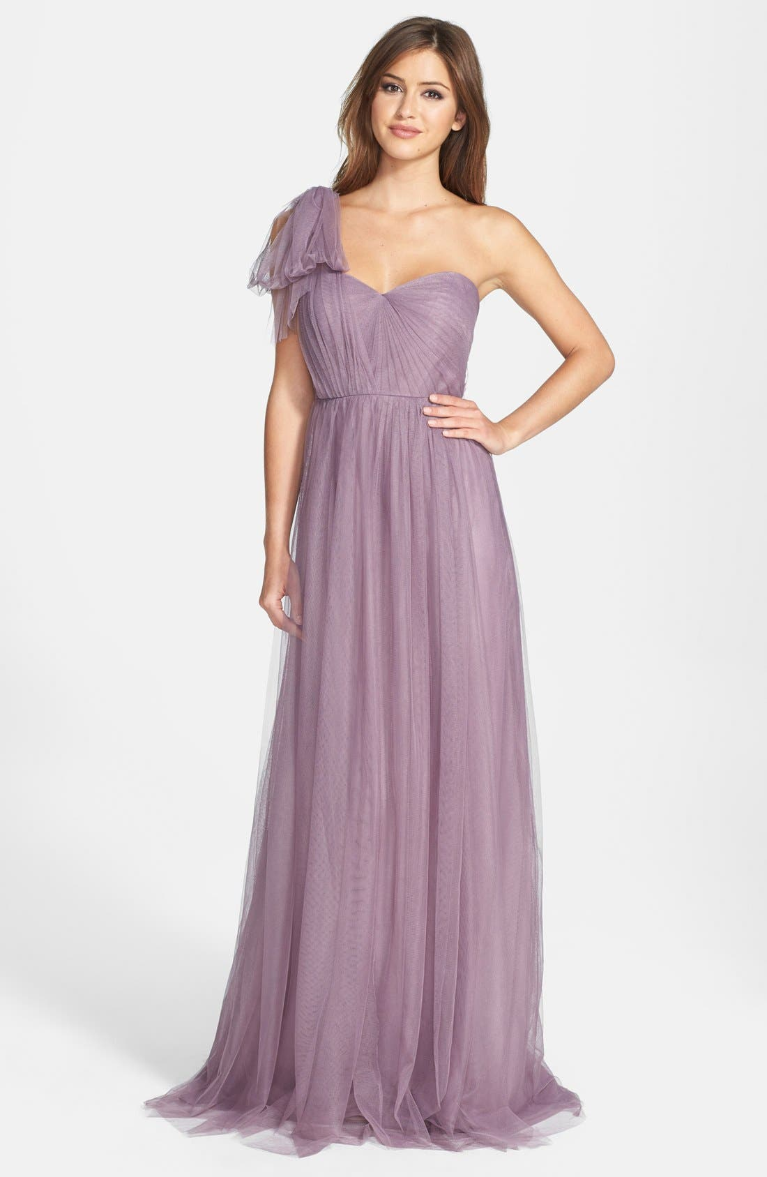 Annabelle Convertible Tulle Column Dress,                             Alternate thumbnail 180, color,