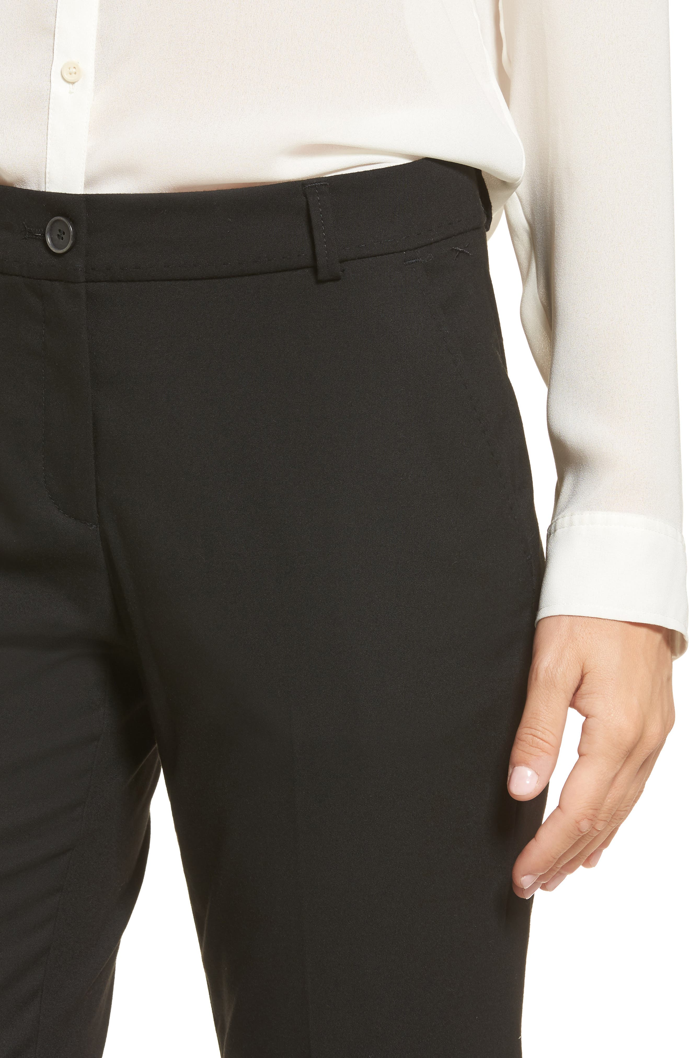 Straight Leg Trousers,                             Alternate thumbnail 4, color,                             002
