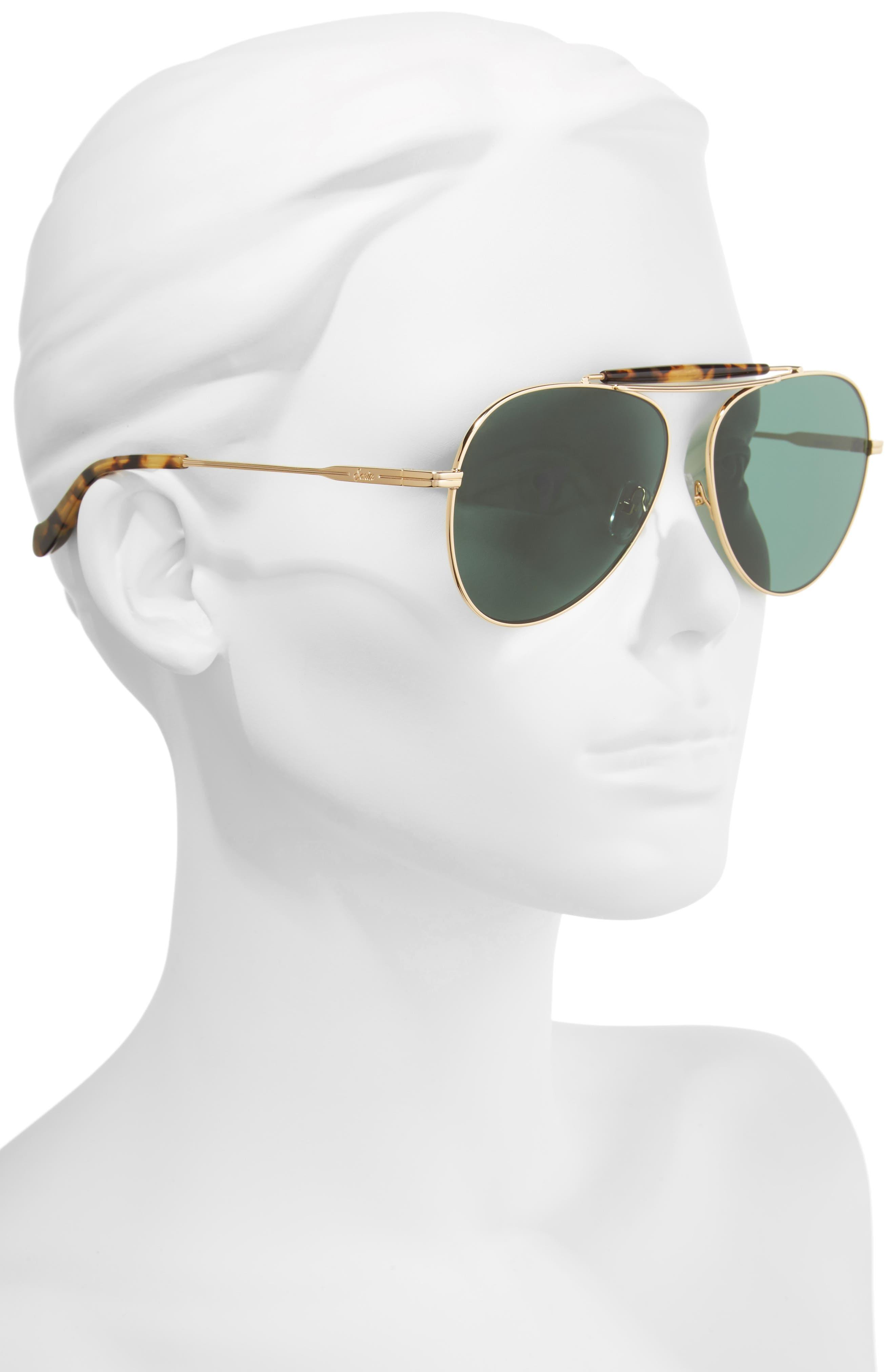 Nara 60mm Aviator Sunglasses,                             Alternate thumbnail 3, color,