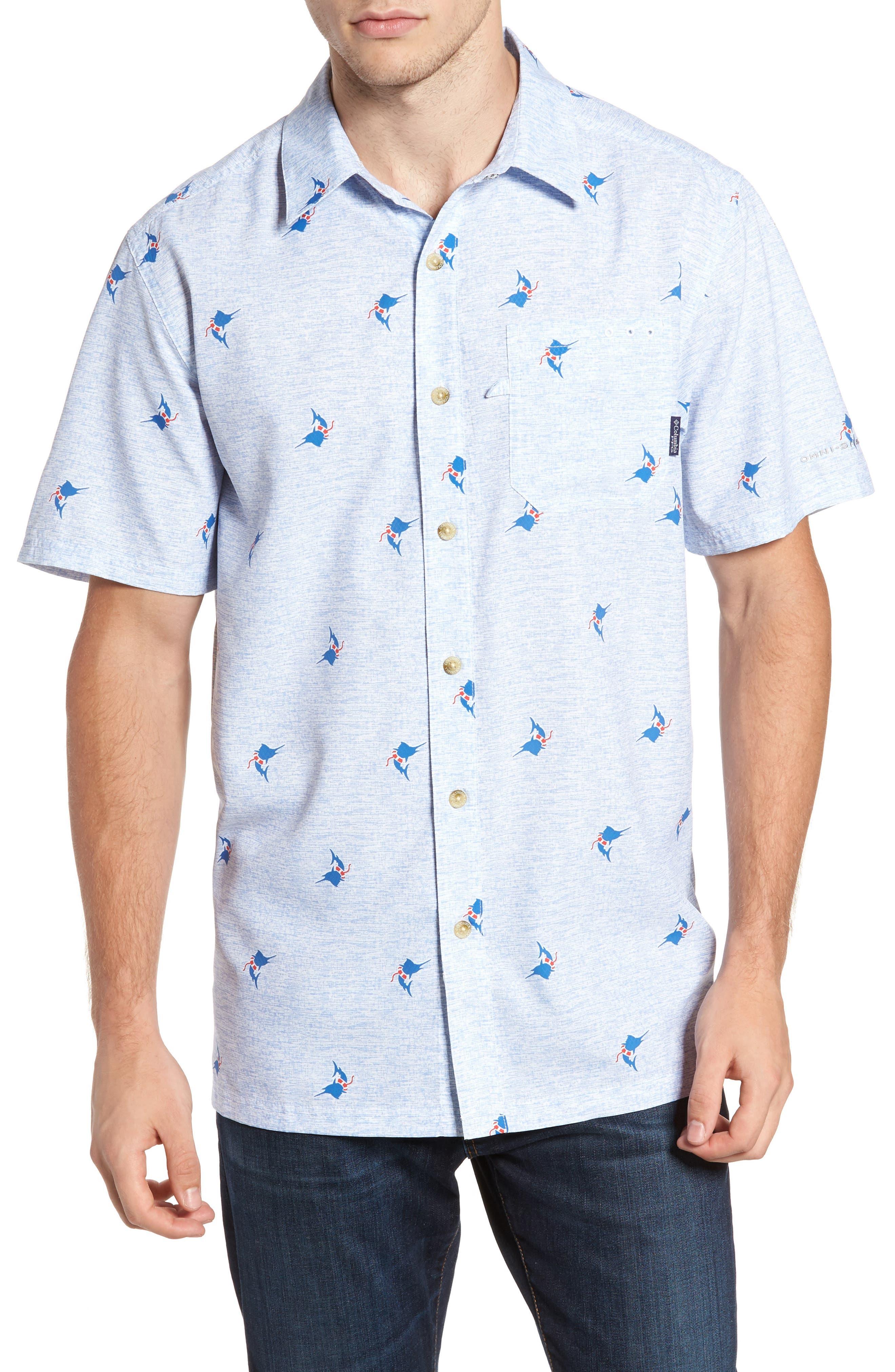 Super Slack Tide Patterned Woven Shirt,                             Main thumbnail 4, color,