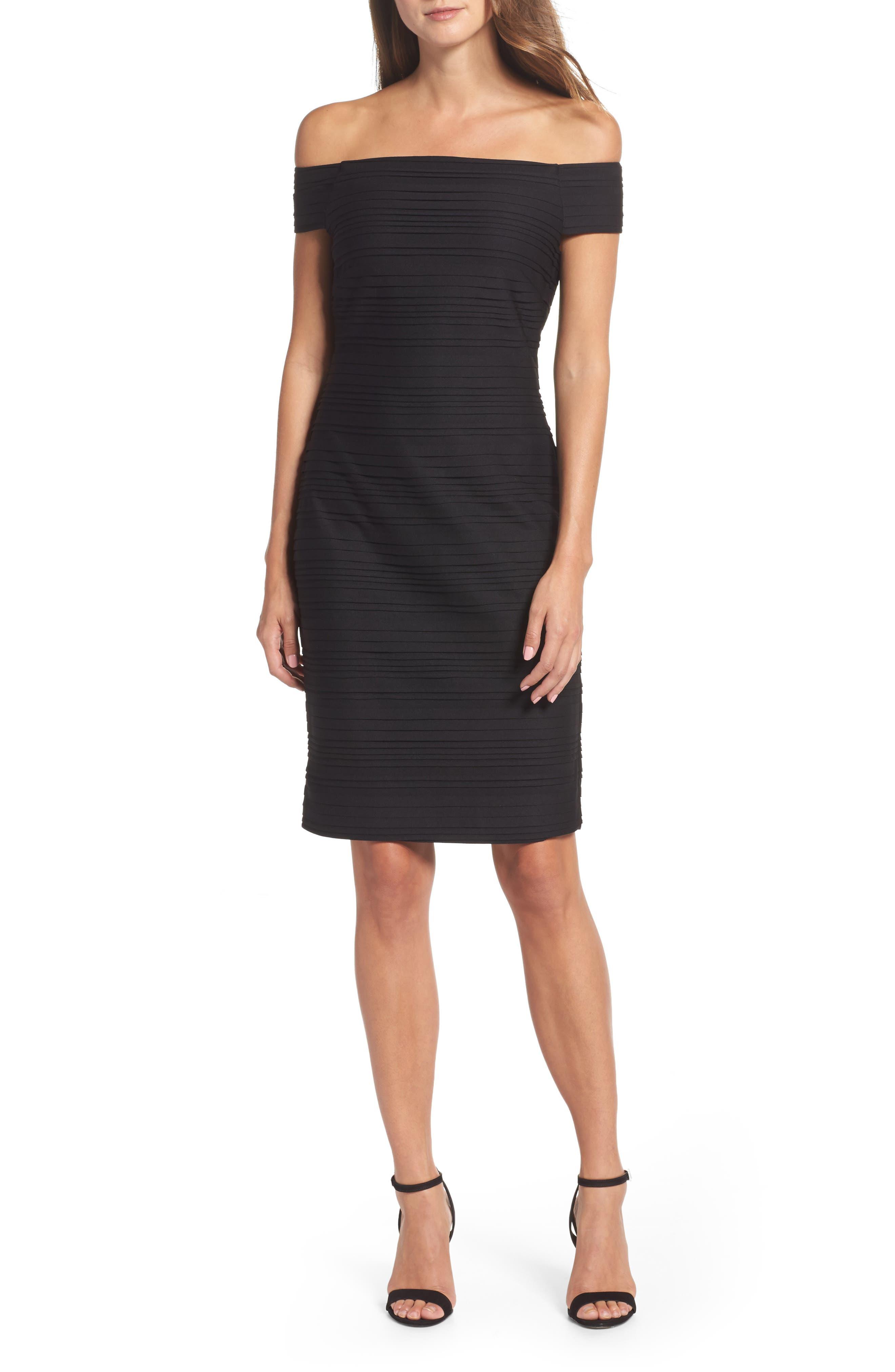 Off the Shoulder Sheath Dress,                         Main,                         color, 001