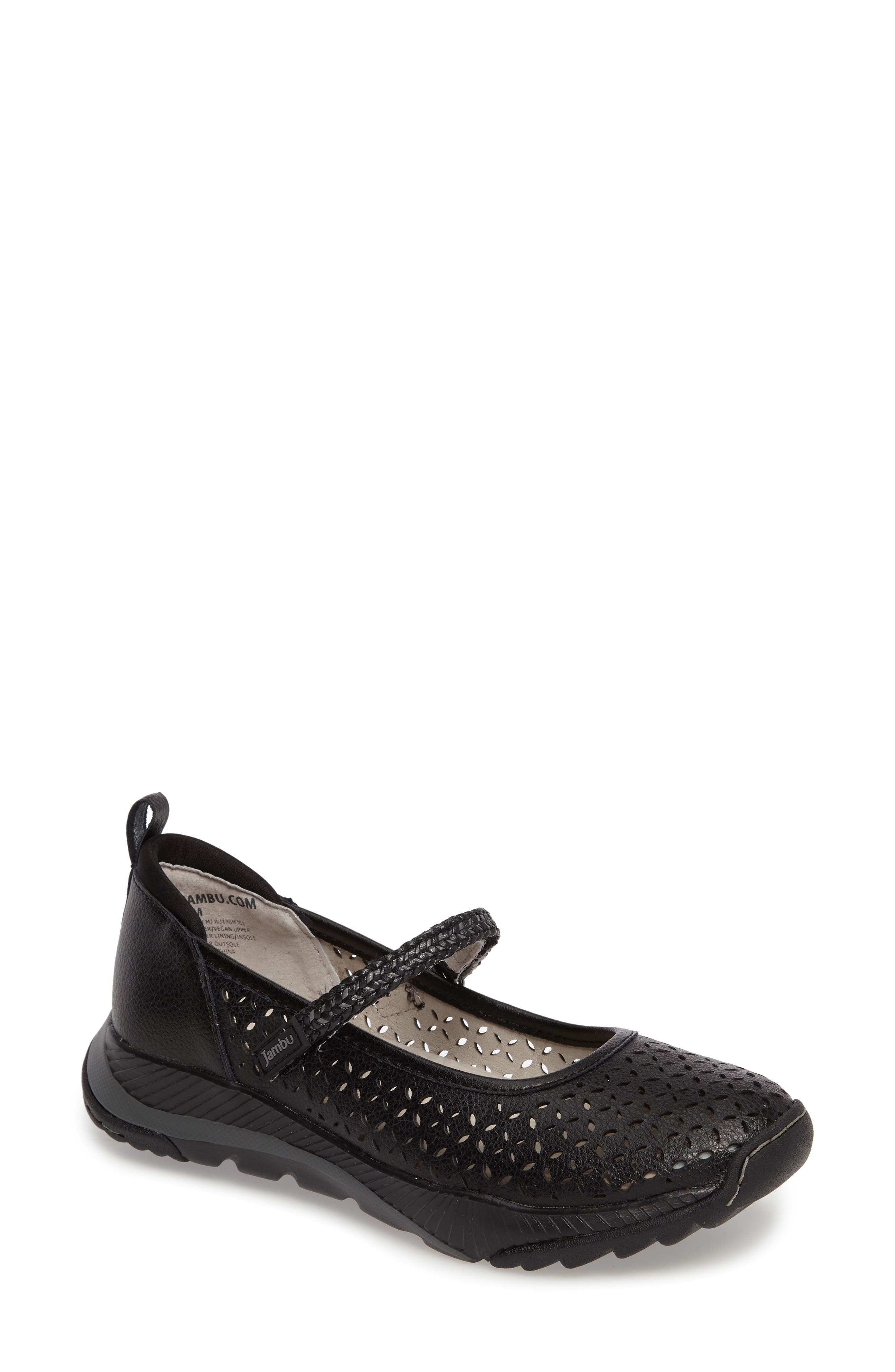 Bailey Perforated Mary Jane Sneaker,                             Main thumbnail 1, color,