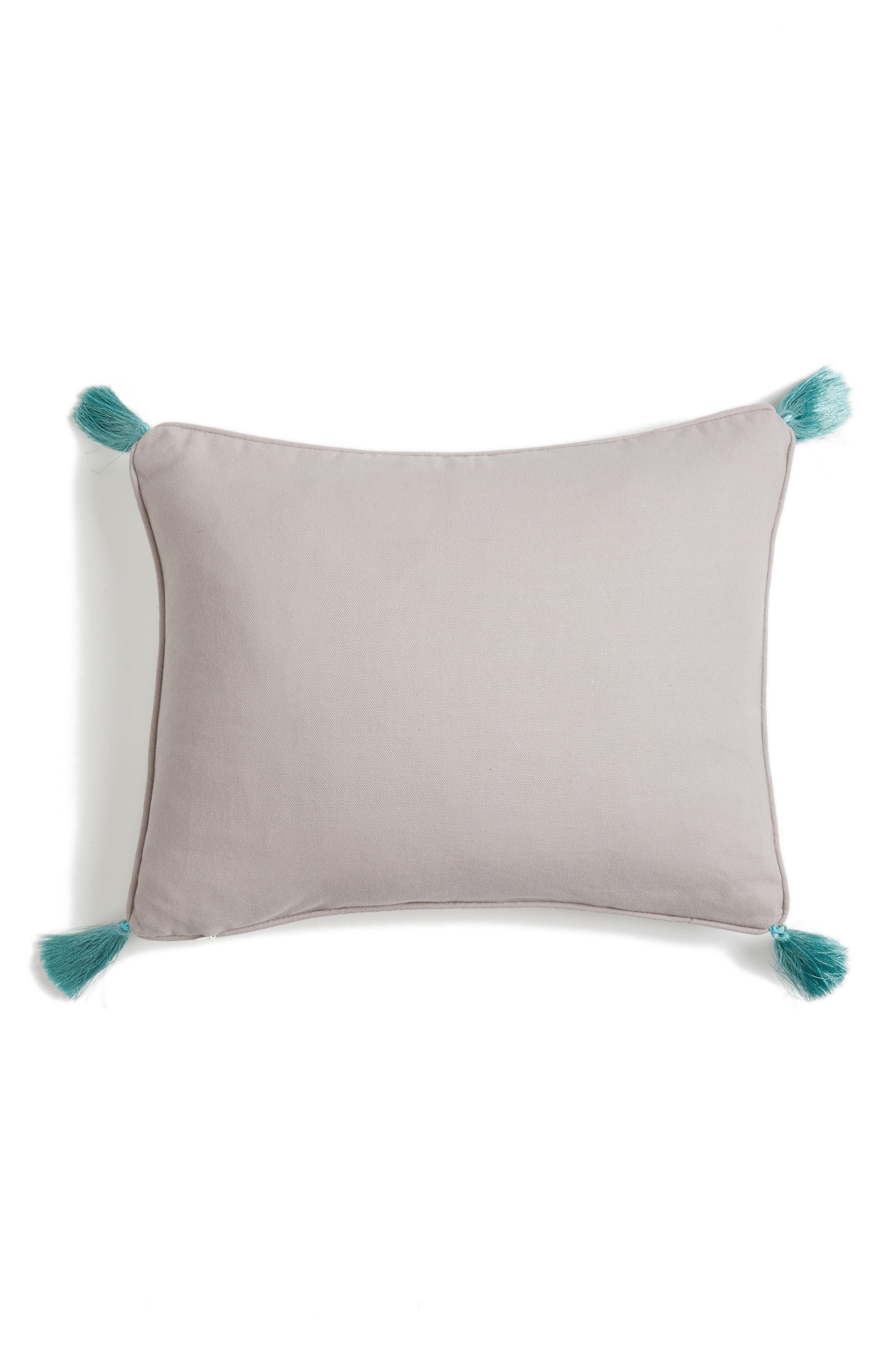 Addie Embroidered Tassel Pillow,                             Alternate thumbnail 2, color,                             020