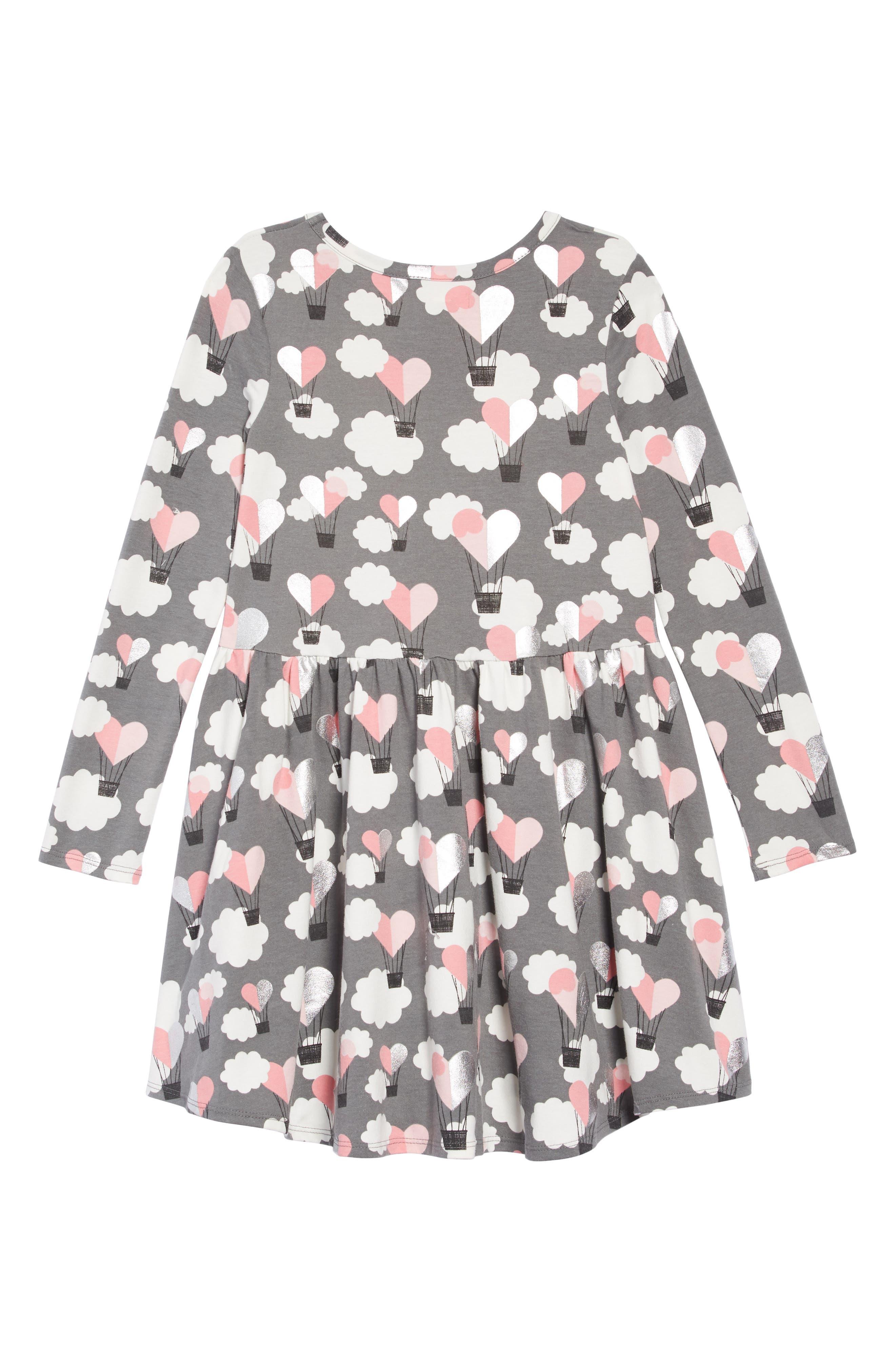 TUCKER + TATE,                             Print Knit Dress,                             Alternate thumbnail 2, color,                             021