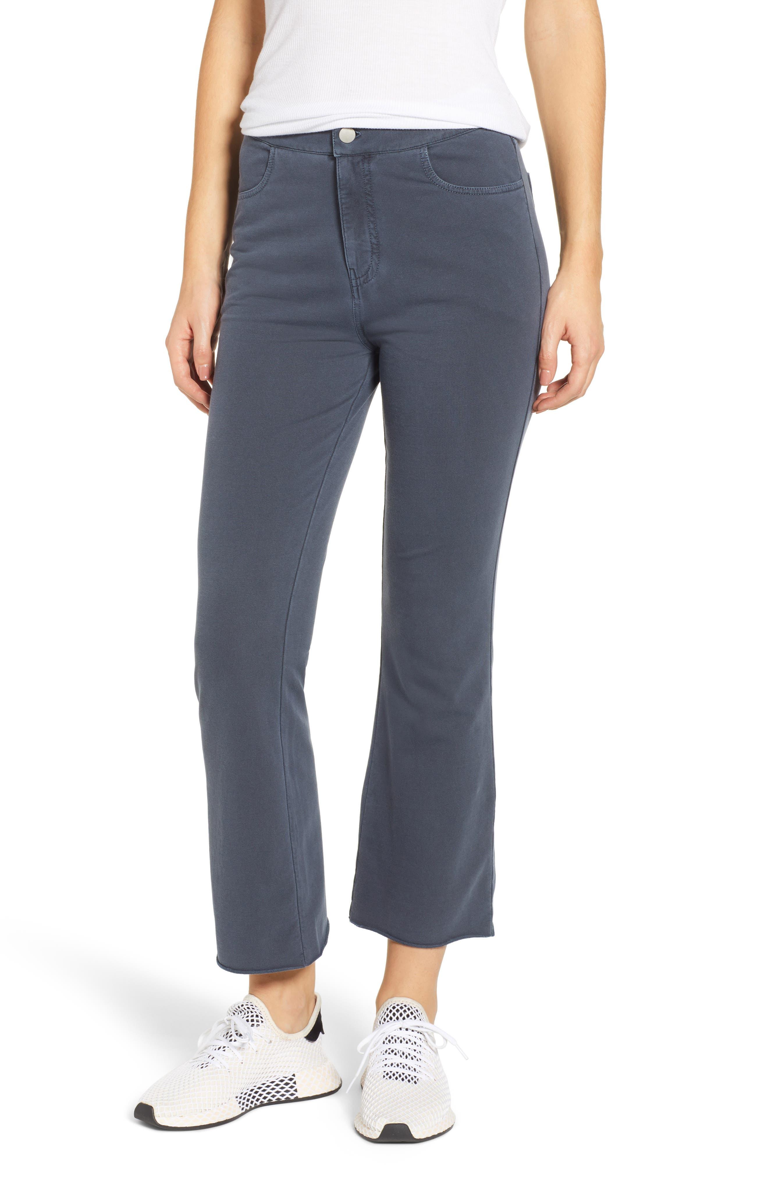 Plus Size Bp. Crop Flare Knit Pants, Blue