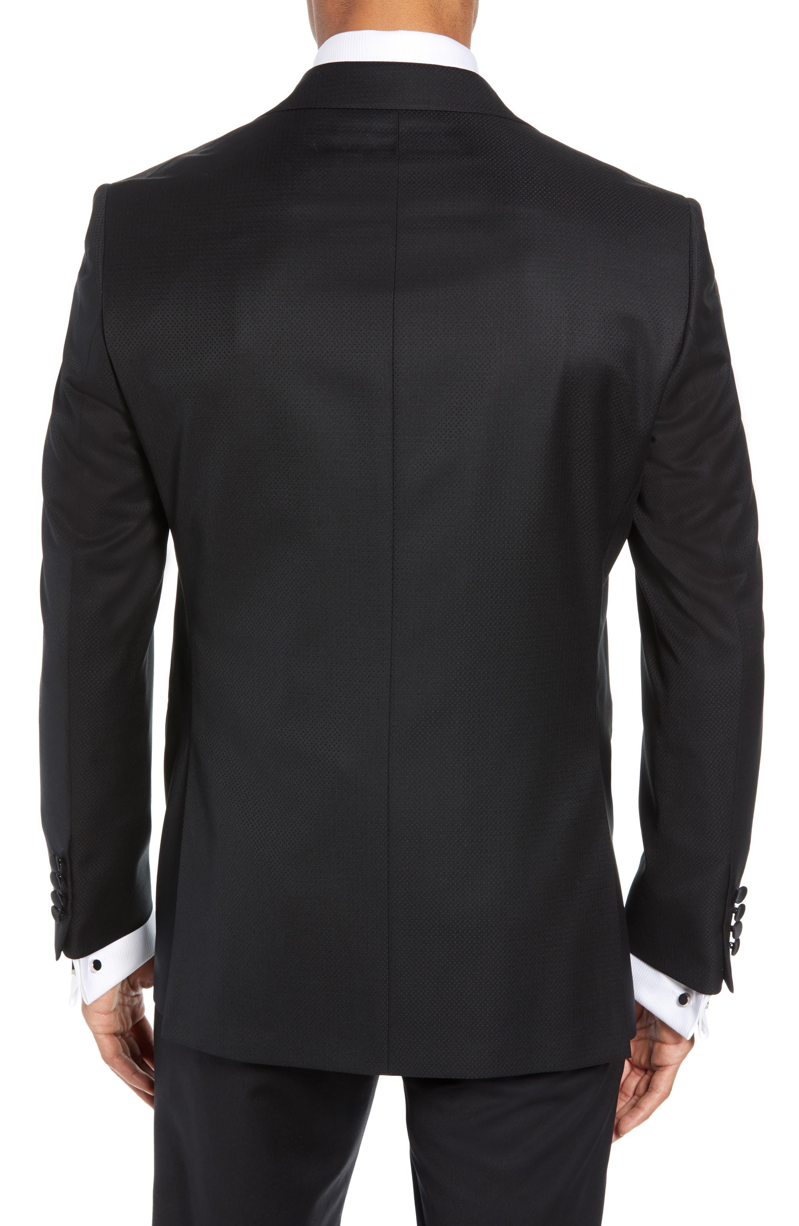 Reed Wool Dinner Jacket,                             Alternate thumbnail 2, color,                             BLACK