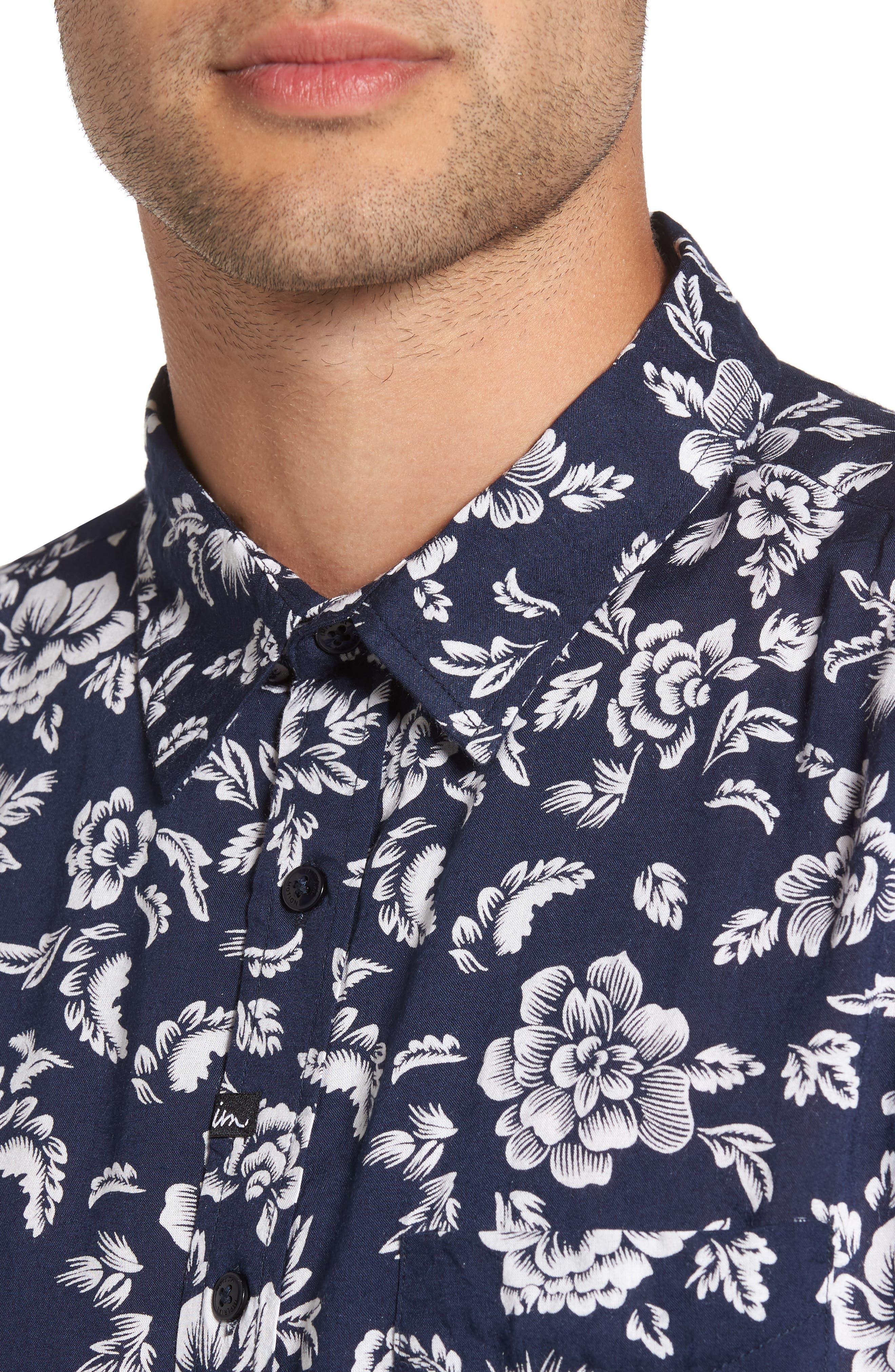 Havanna Trim-Fit Woven Shirt,                             Alternate thumbnail 4, color,                             400