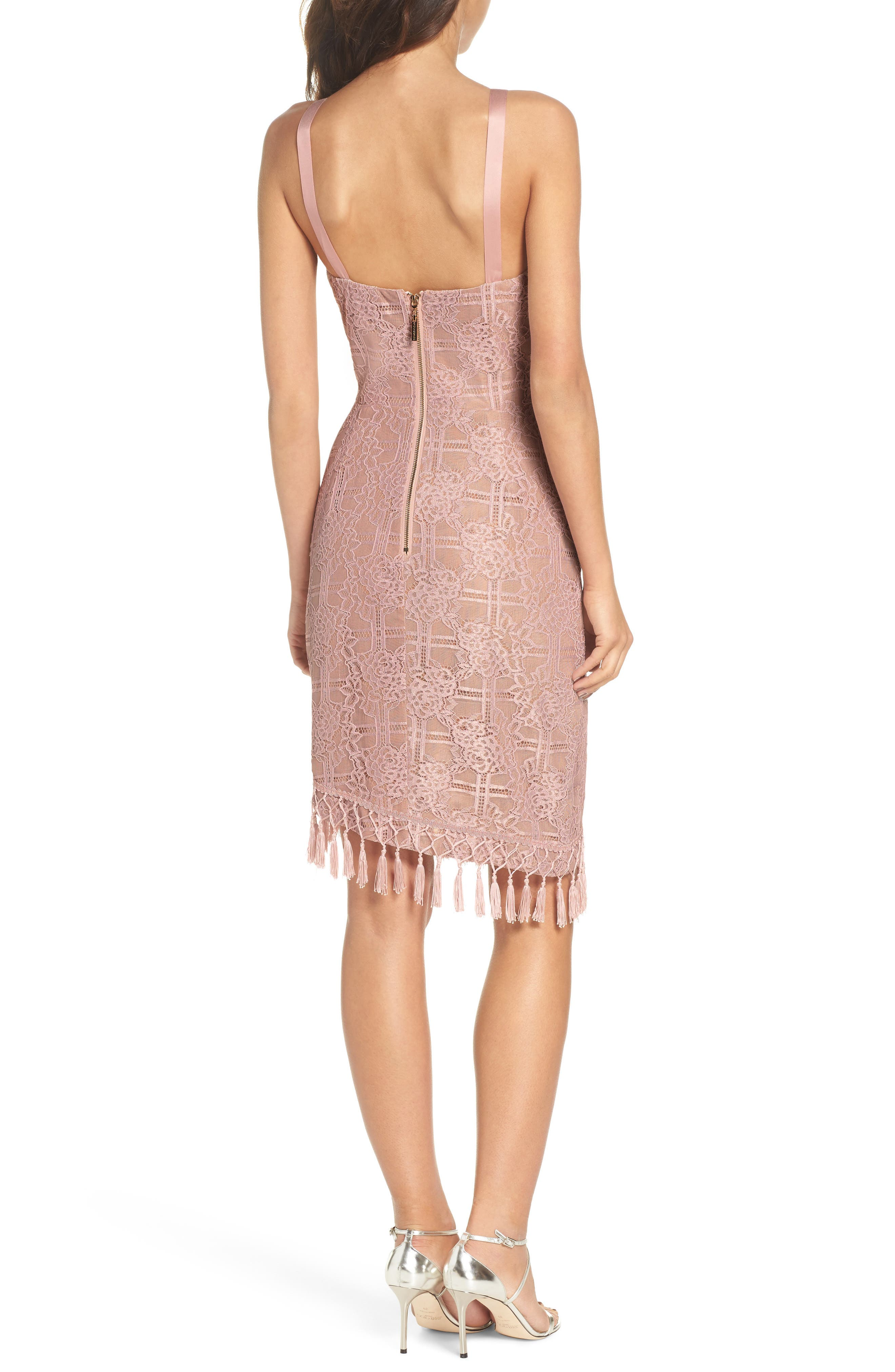 Natasha Asymmetrical Lace Dress,                             Alternate thumbnail 2, color,                             250