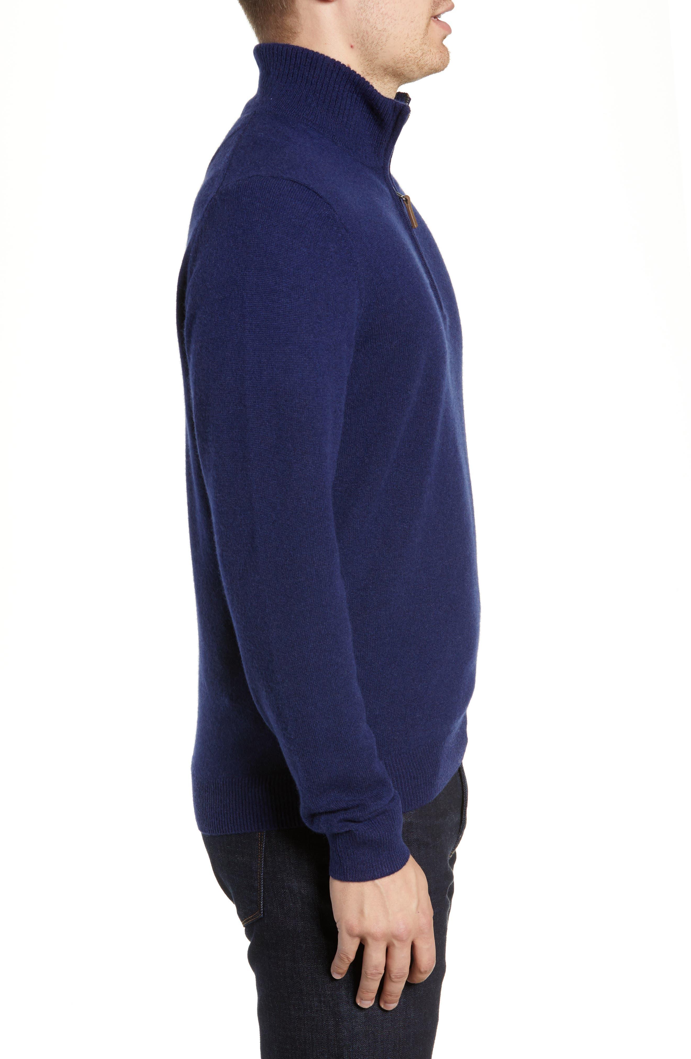 Cashmere Quarter Zip Sweater,                             Alternate thumbnail 3, color,                             410