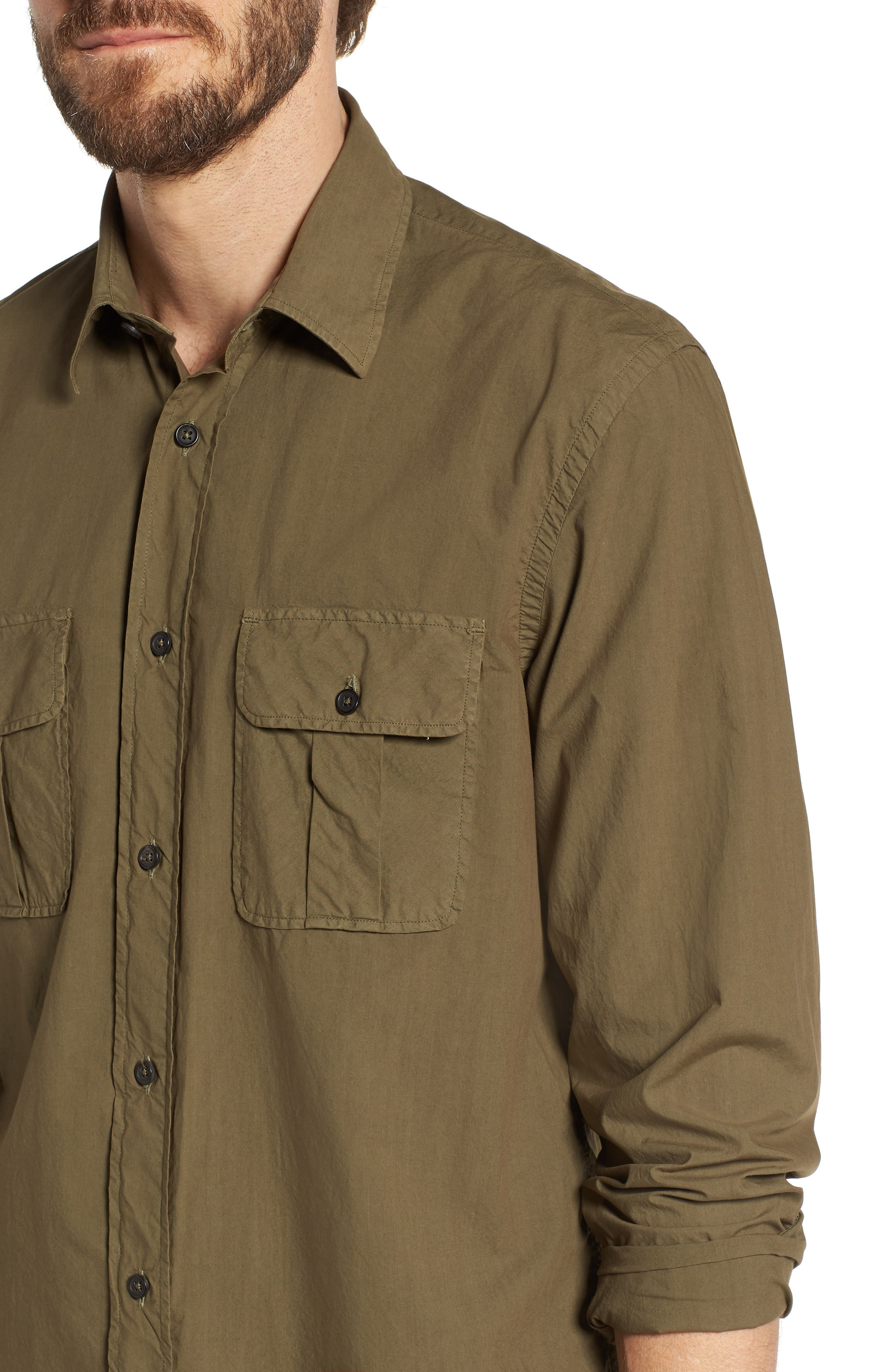 Brantley Slim Fit Sport Shirt,                             Alternate thumbnail 4, color,                             300