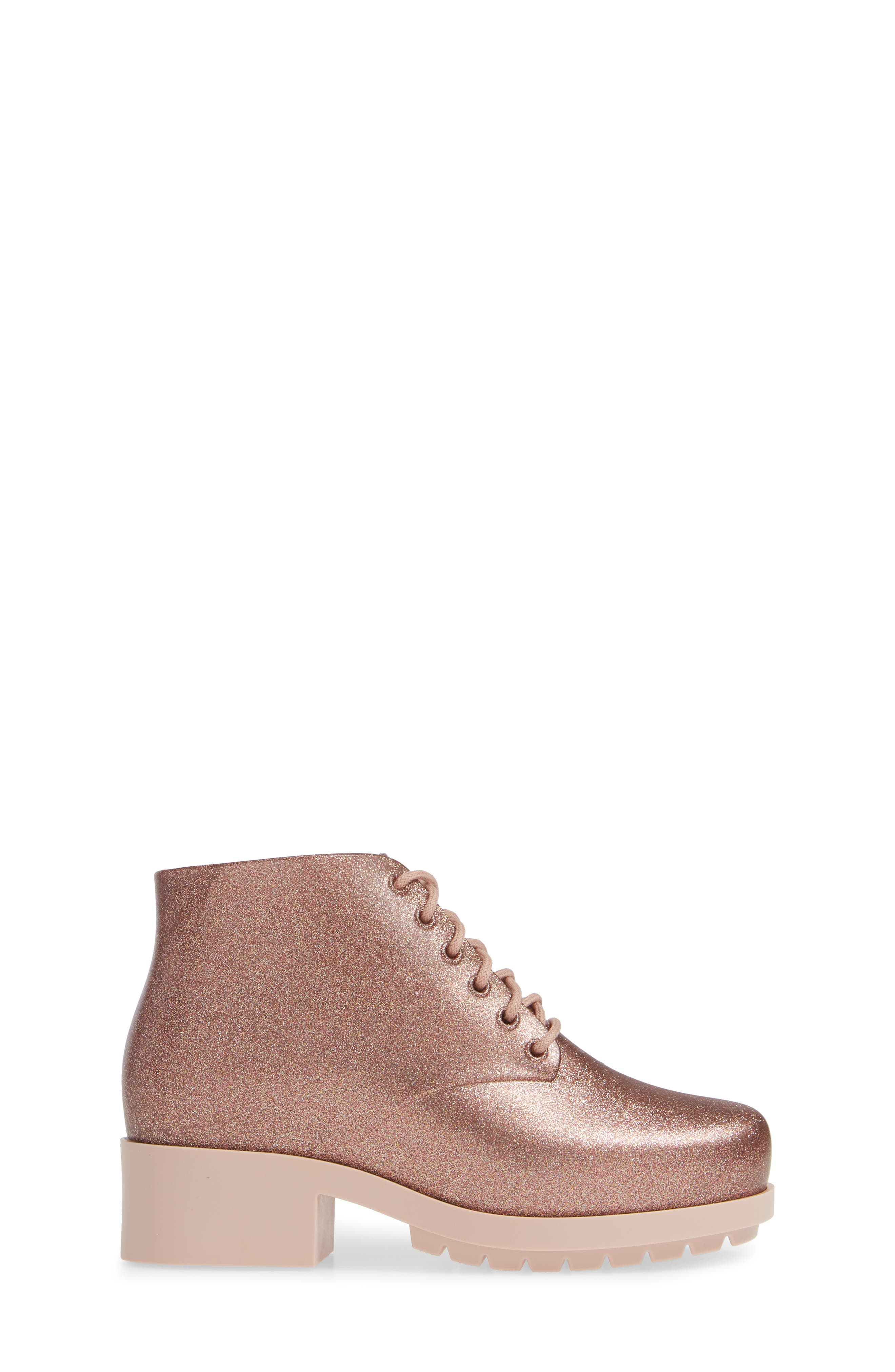 MEL BY MELISSA,                             'Stella' Boot,                             Alternate thumbnail 3, color,                             PINK STARRY