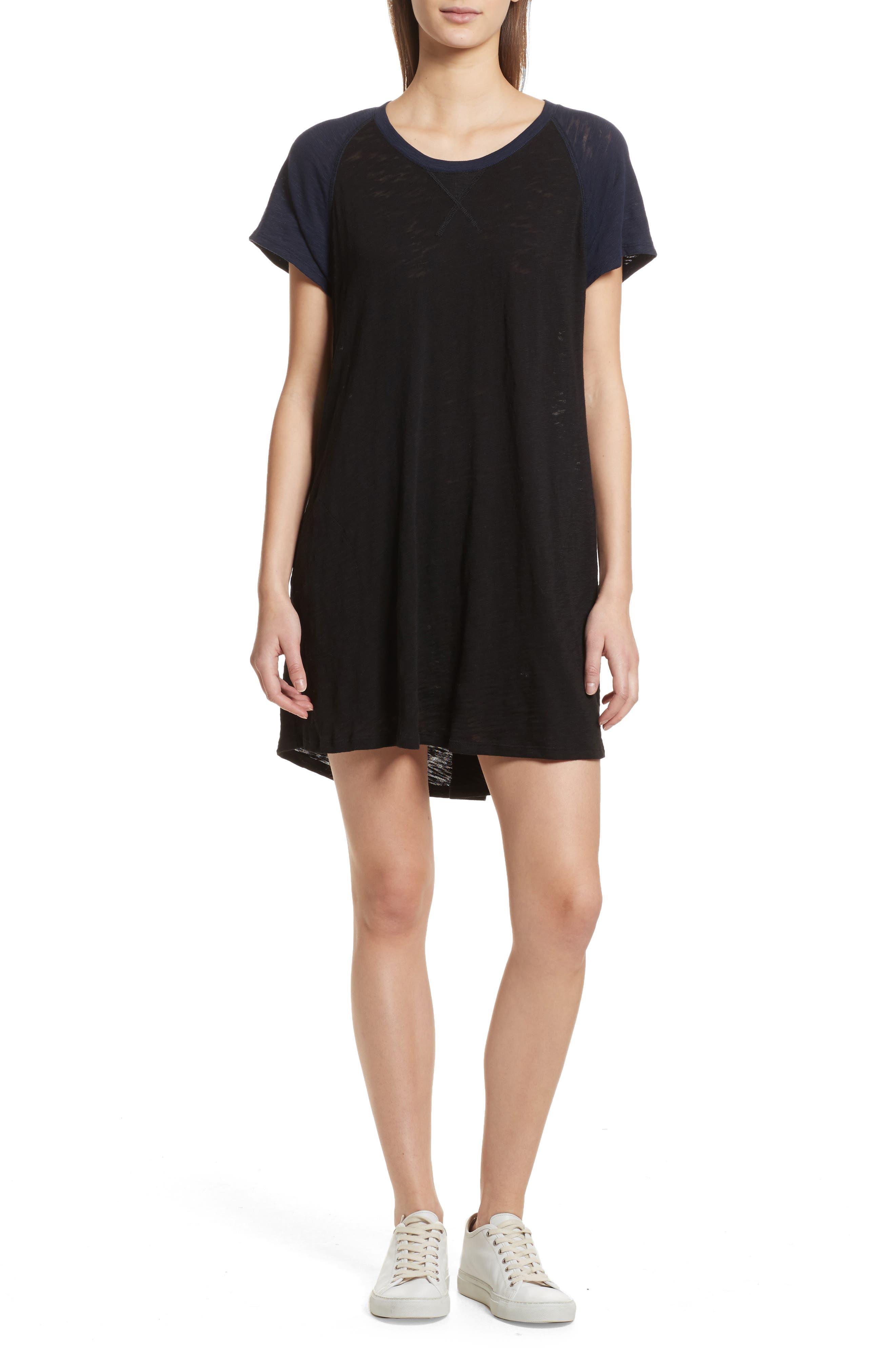 Slub Cotton Baseball T-Shirt Dress,                         Main,                         color, 400
