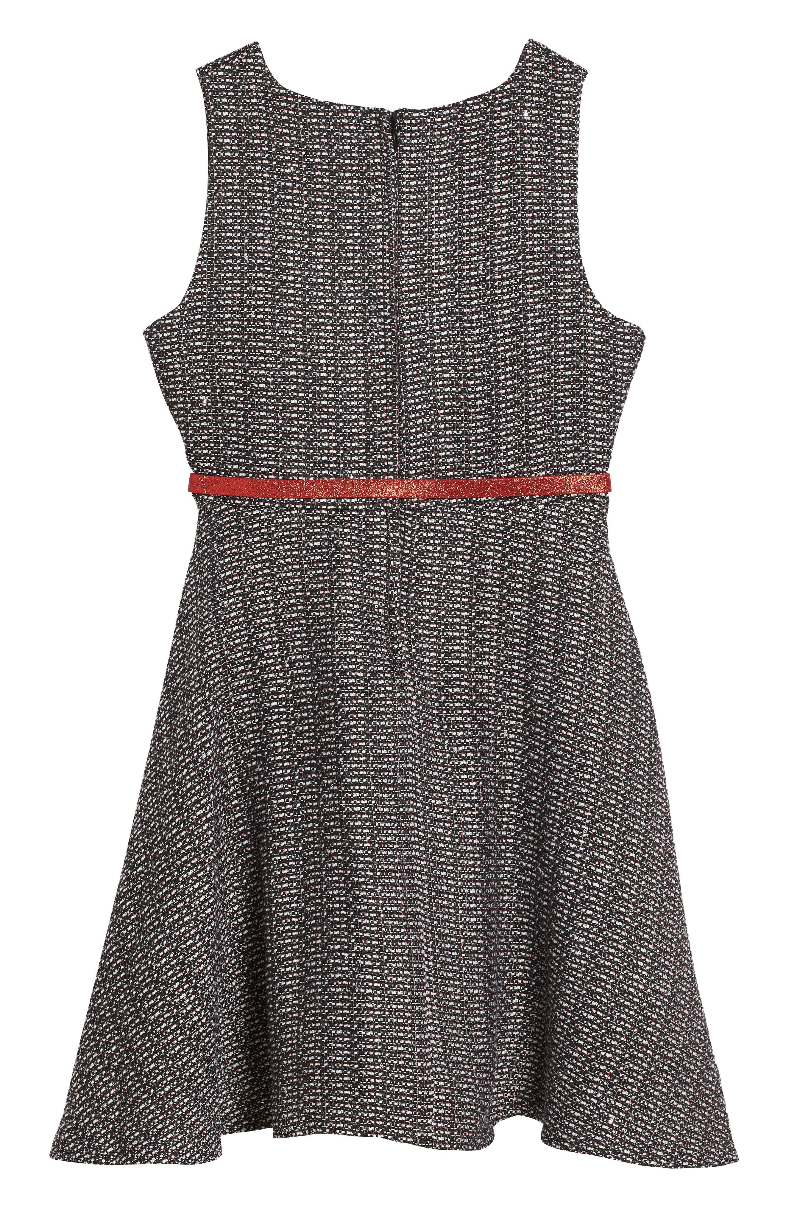Ella Tweed Dress,                             Alternate thumbnail 2, color,