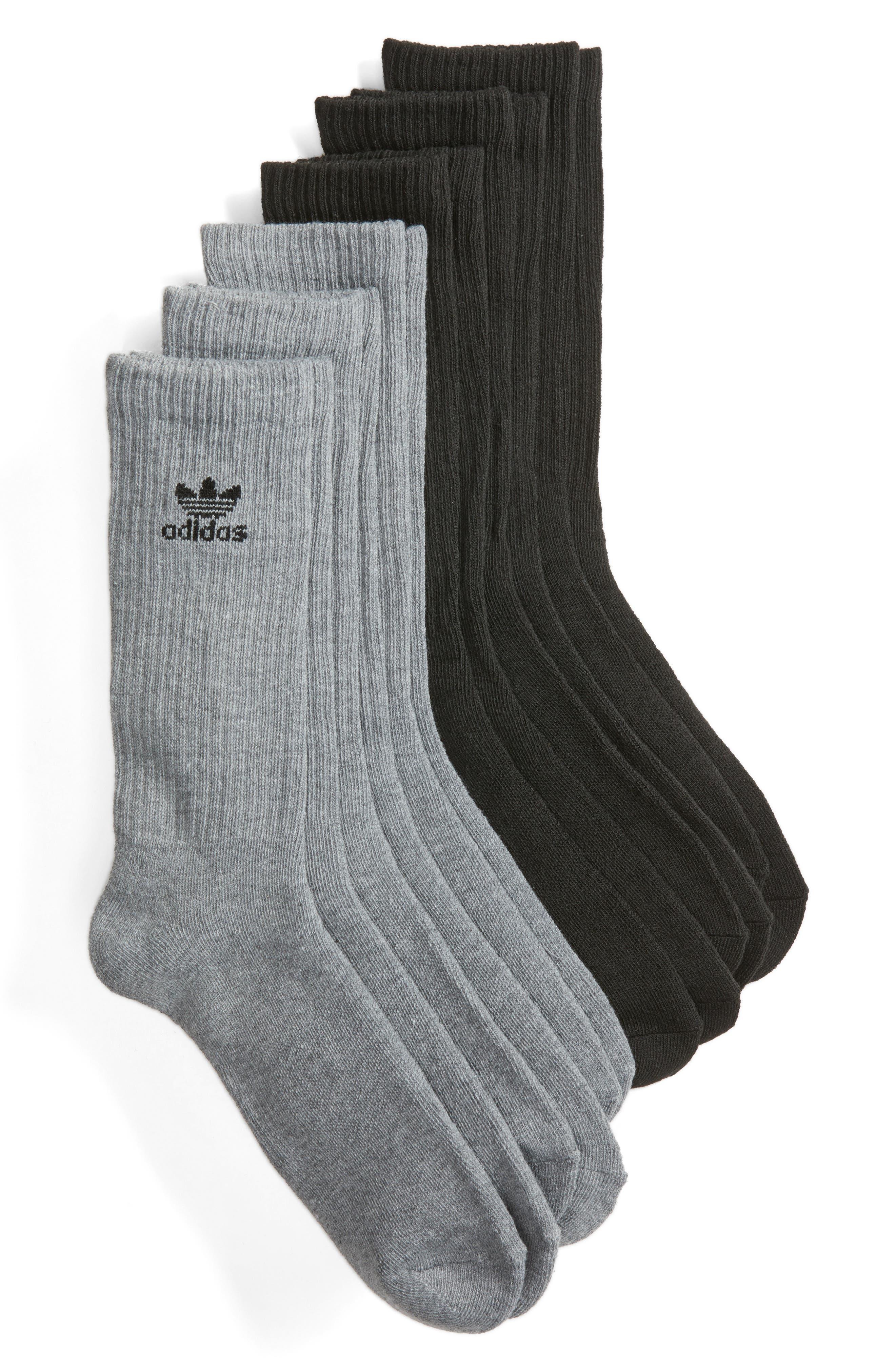 6-Pack Original Trefoil Crew Socks,                         Main,                         color, 020