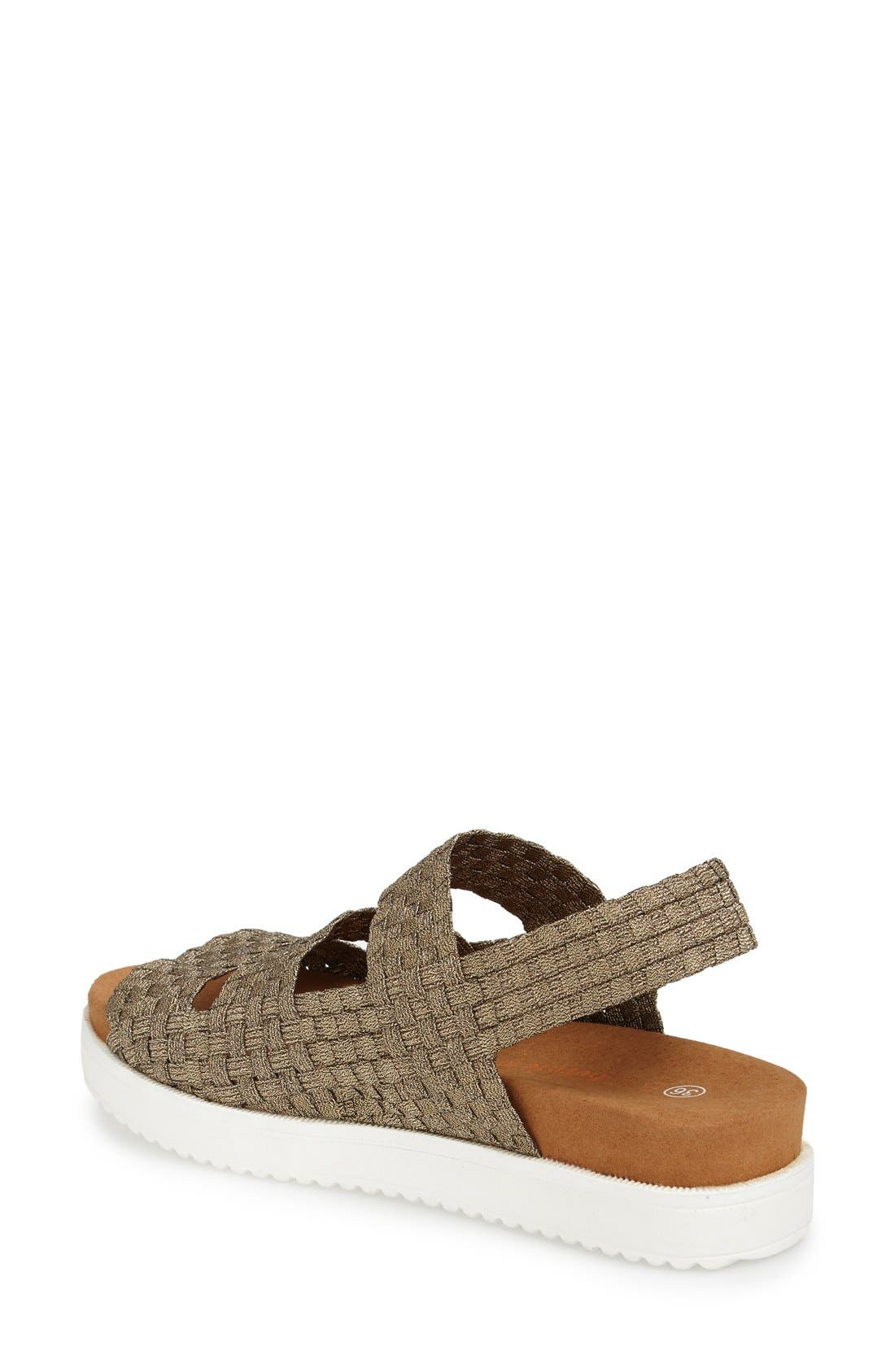 'Crisp' Woven Platform Sandal,                             Alternate thumbnail 2, color,                             BRONZE FABRIC