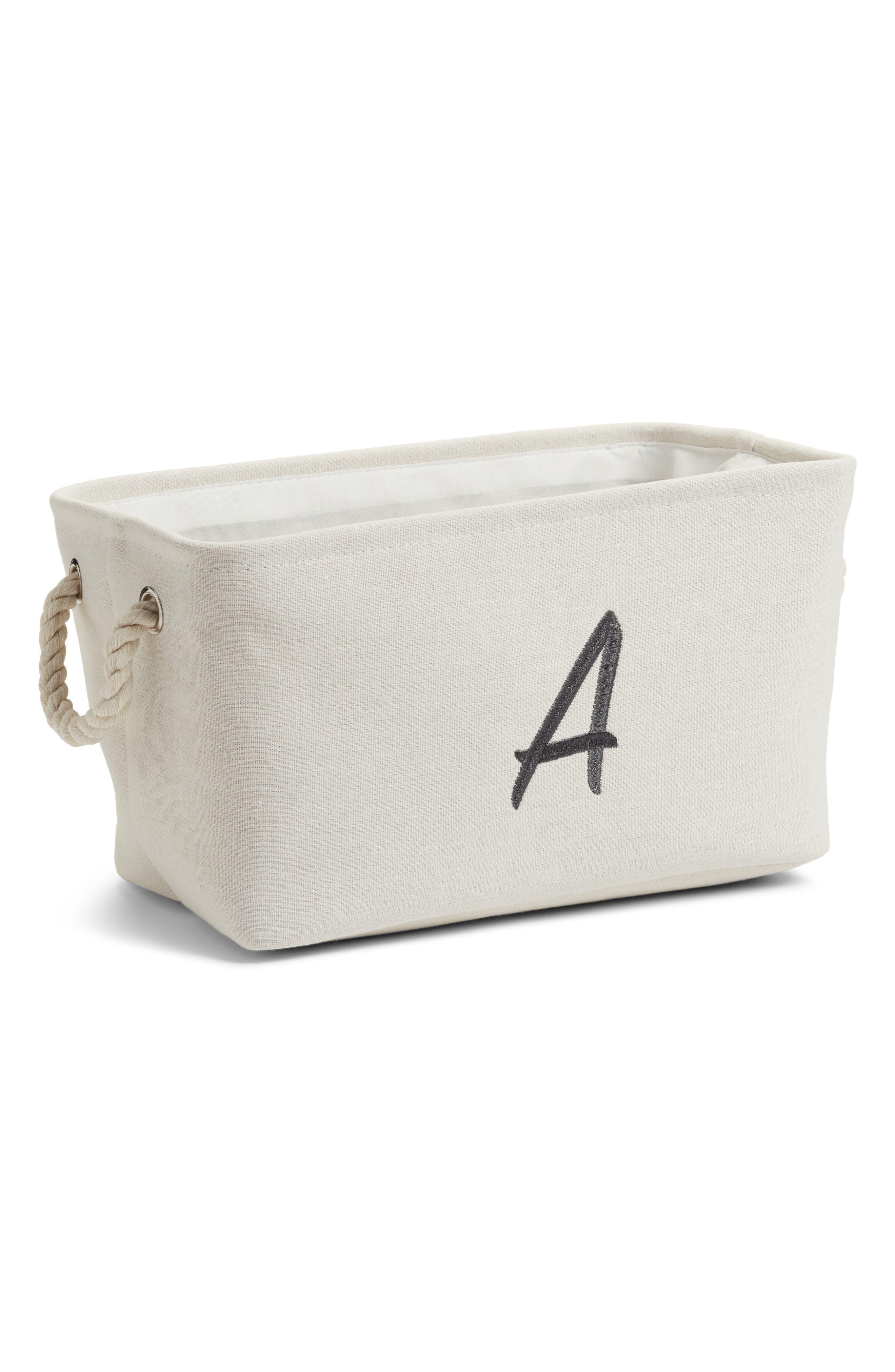 Initial Monogram Storage Basket,                         Main,                         color, 900