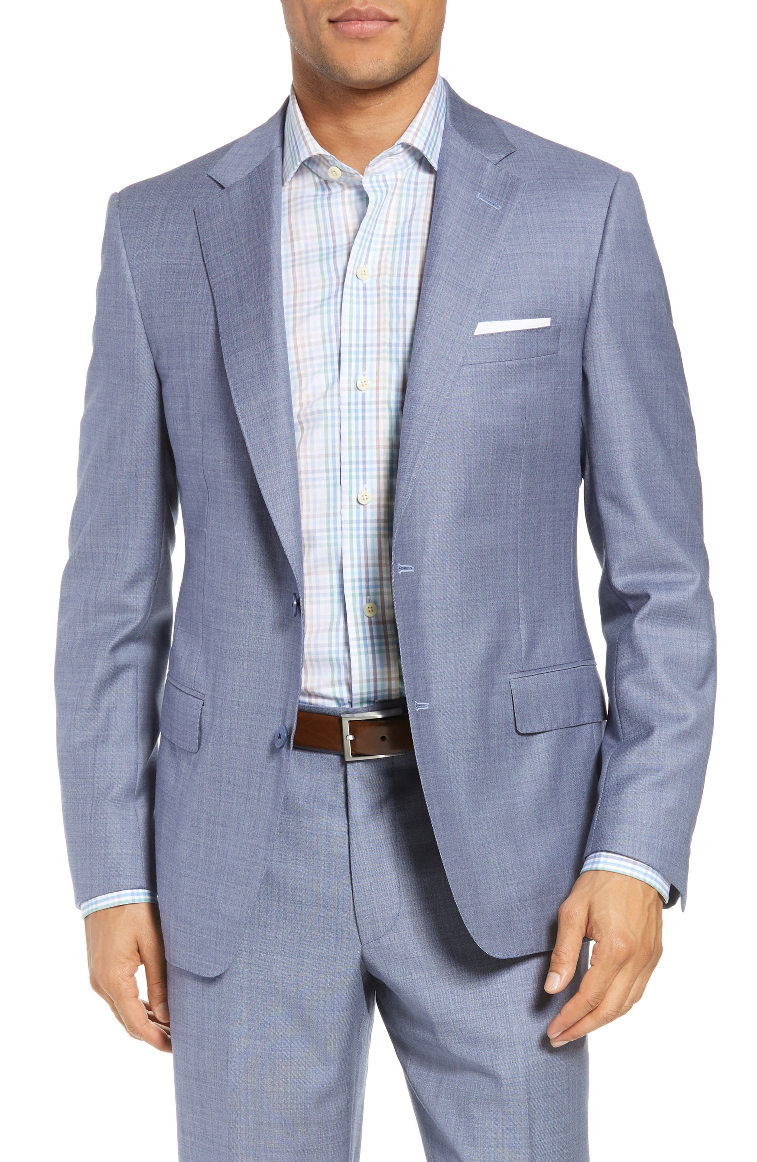Classic Fit Solid Wool Suit,                             Alternate thumbnail 5, color,                             450