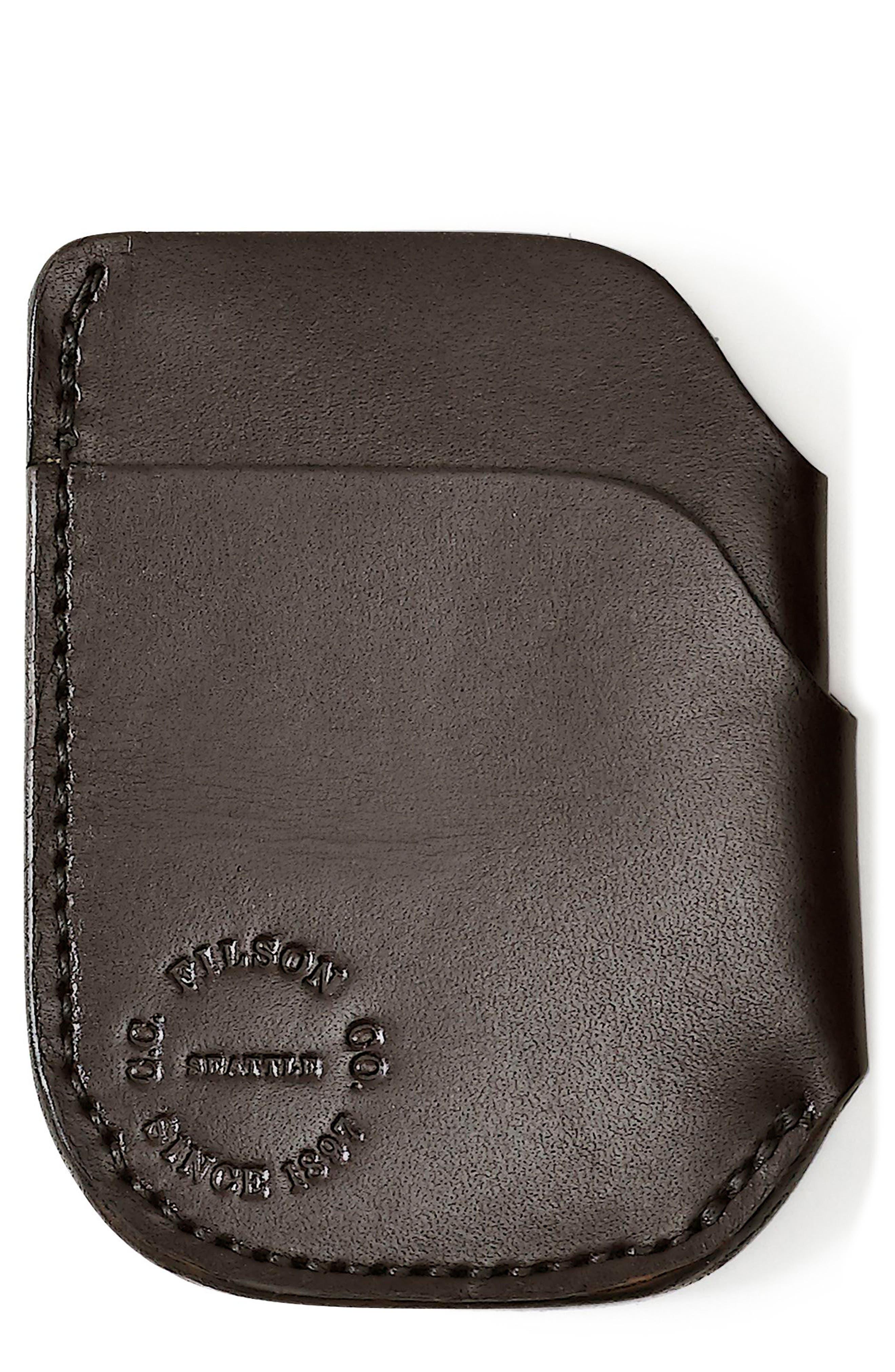 Leather Cash & Card Case,                             Main thumbnail 1, color,                             200