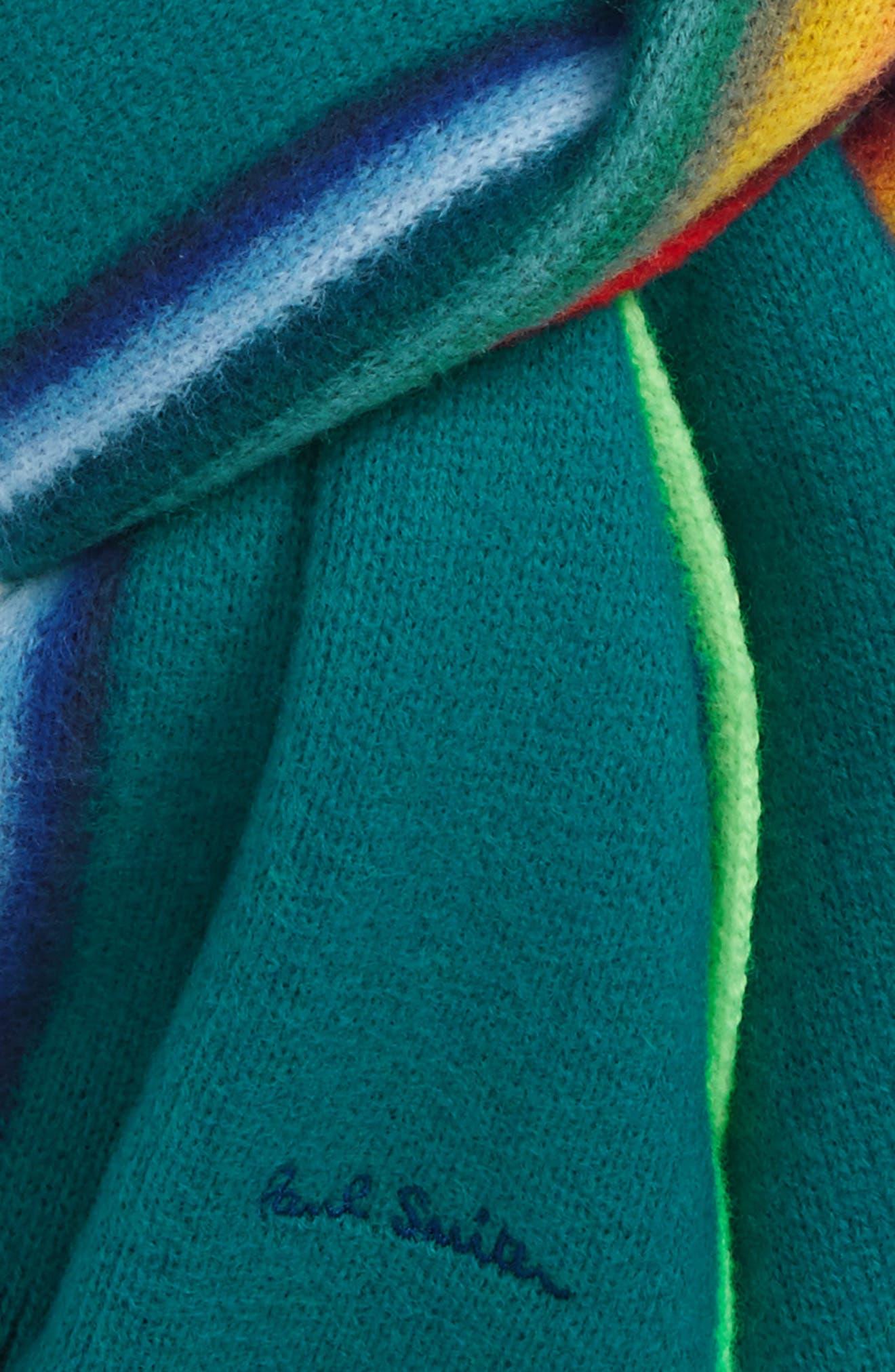 Rainbow Edge Wool Scarf,                             Alternate thumbnail 11, color,