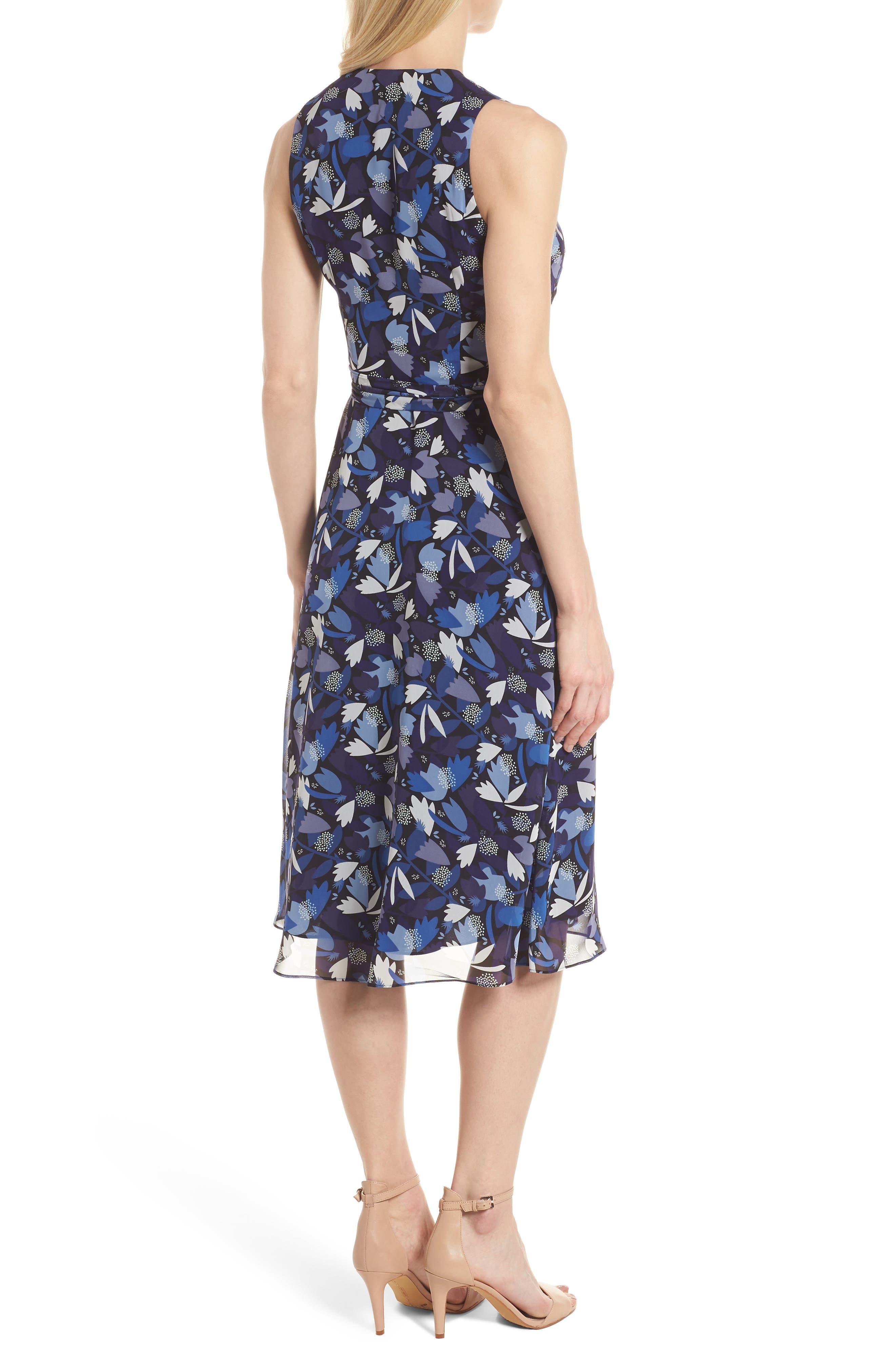 Amalfi Print Chiffon Dress,                             Alternate thumbnail 2, color,                             410