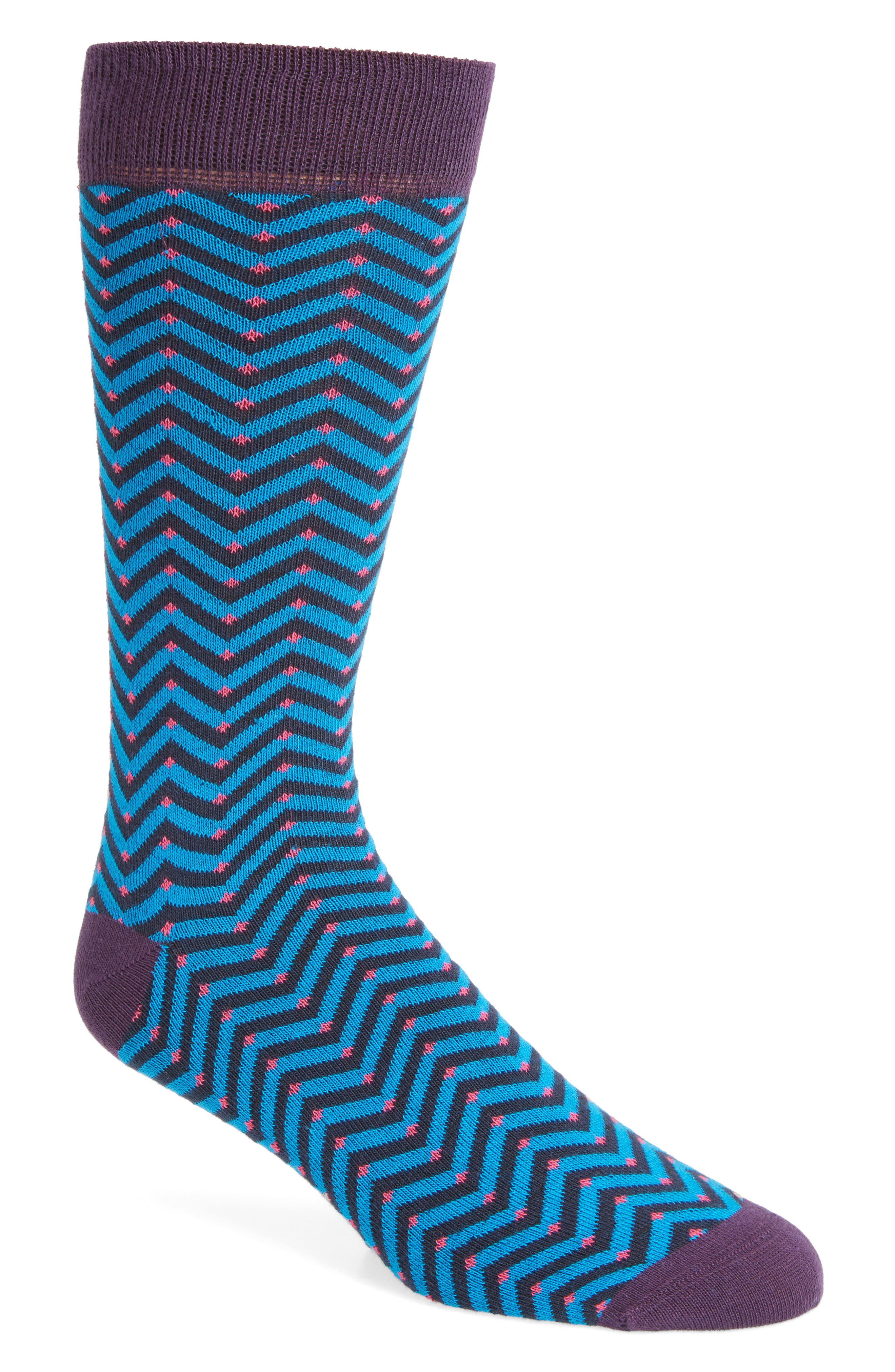 Chevron Stripe Socks,                             Main thumbnail 1, color,