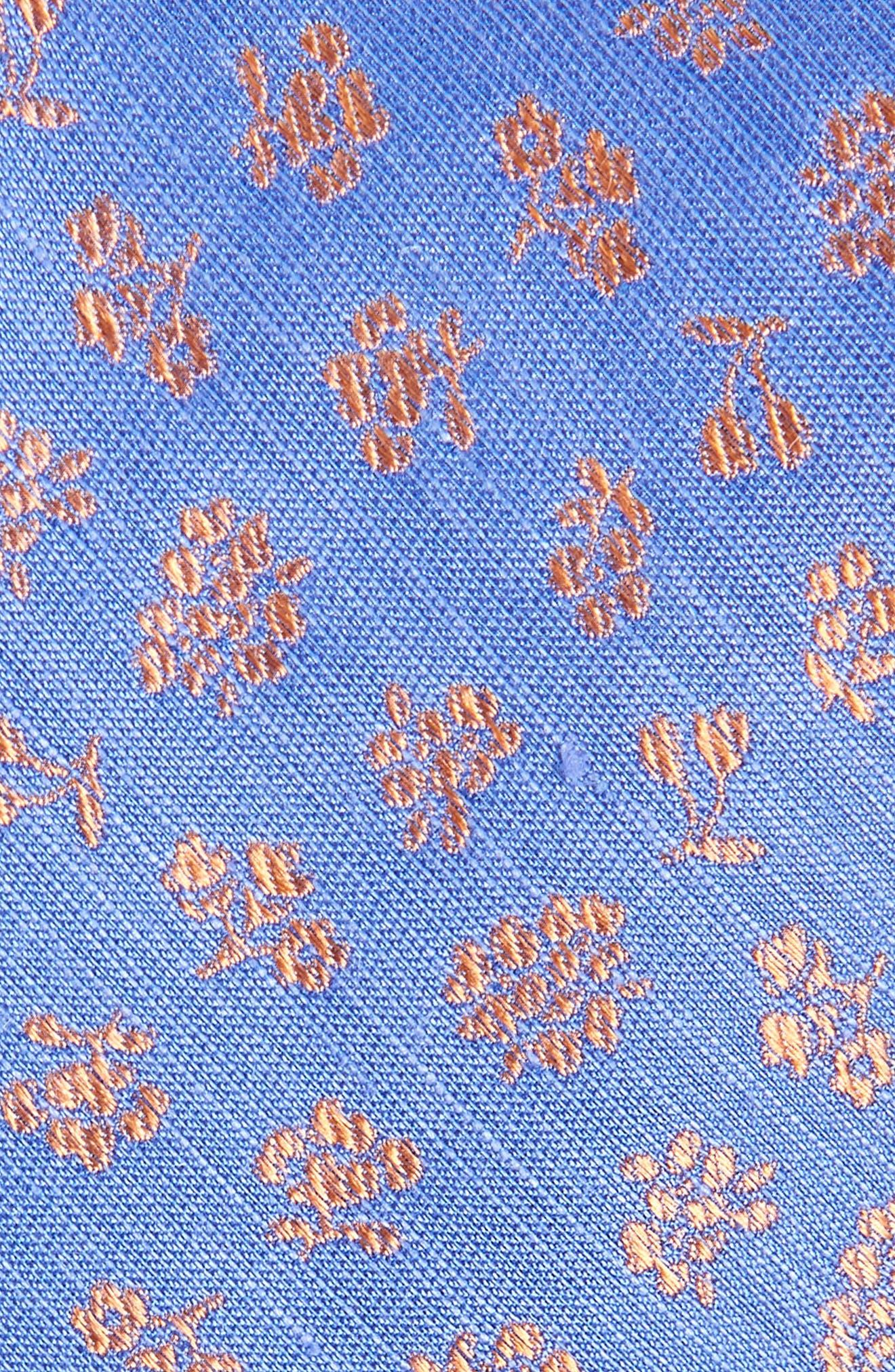 Fruta Floral Silk & Linen Tie,                             Alternate thumbnail 2, color,                             PERIWINKLE