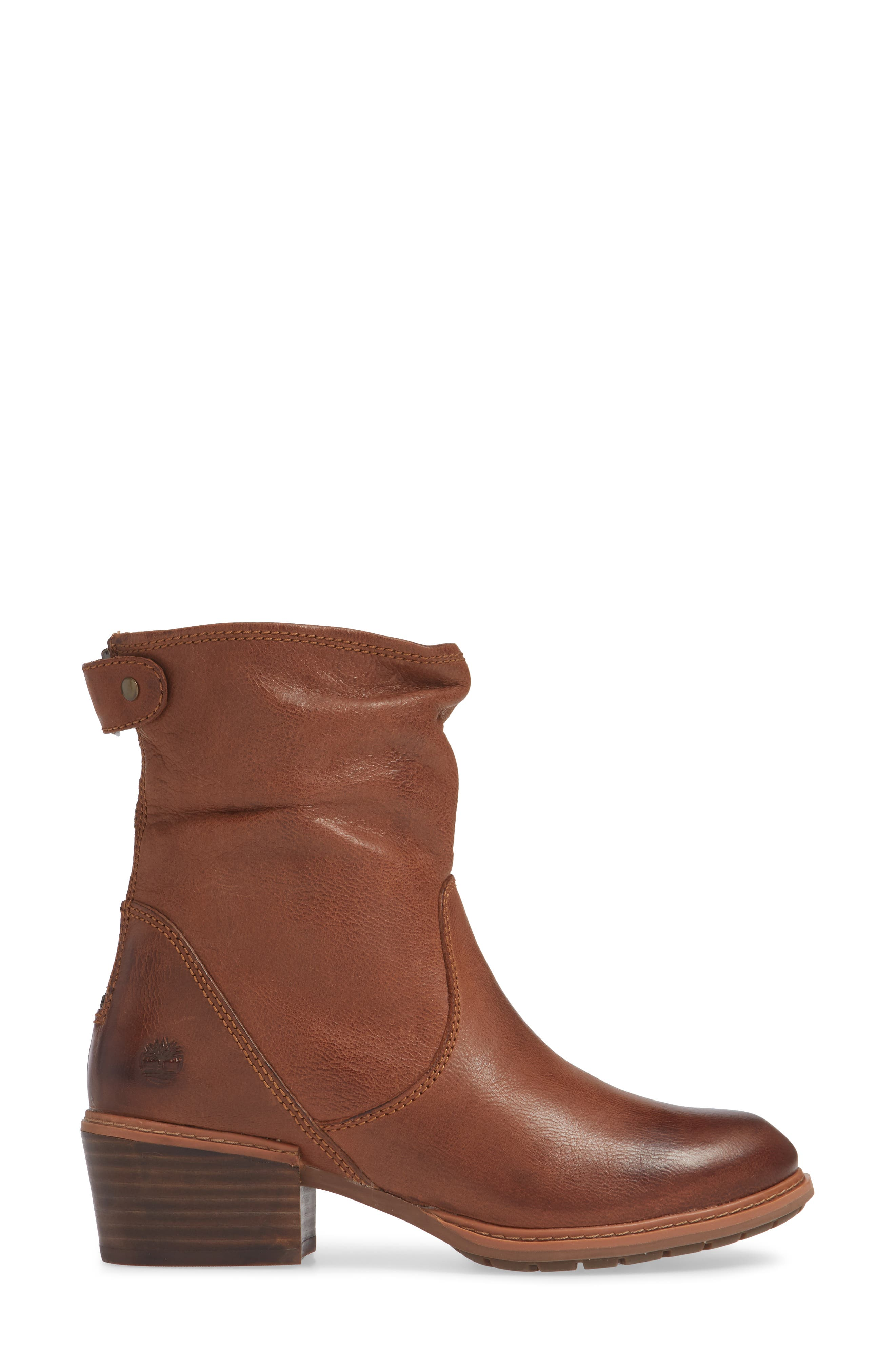 Sutherlin Bay Water Resistant Bootie,                             Alternate thumbnail 3, color,                             ARGAN OIL LEATHER