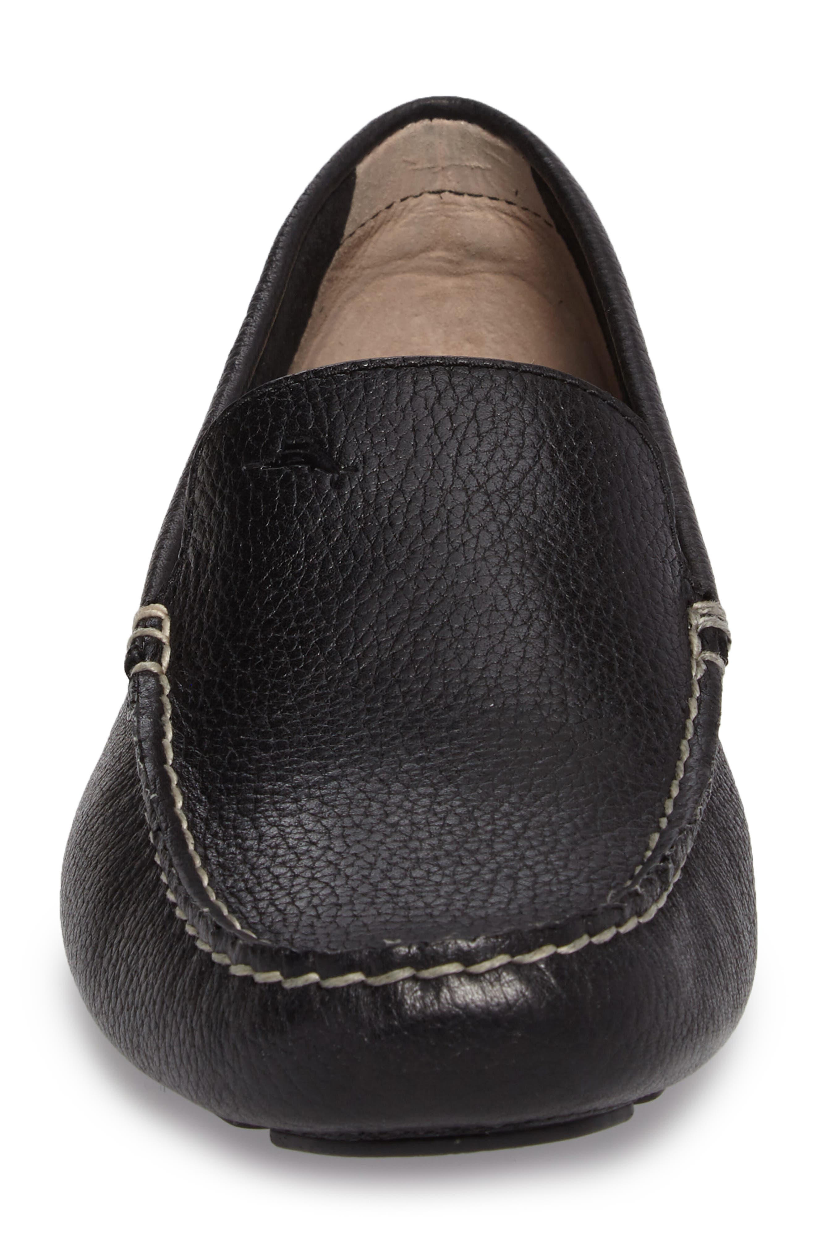 Pagota Driving Loafer,                             Alternate thumbnail 4, color,                             BLACK LEATHER