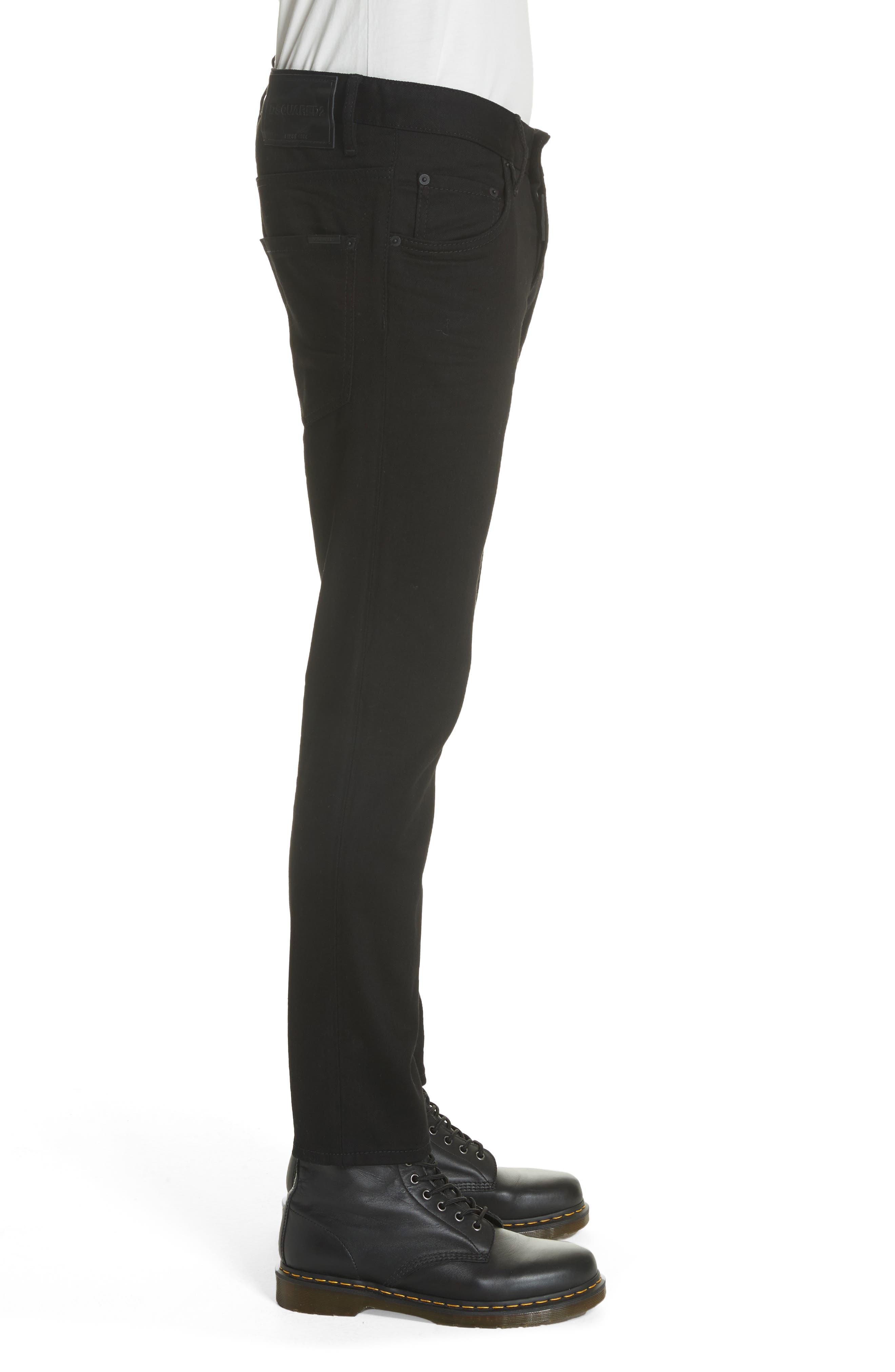 Black Bull Skater Jeans,                             Alternate thumbnail 3, color,                             BLACK