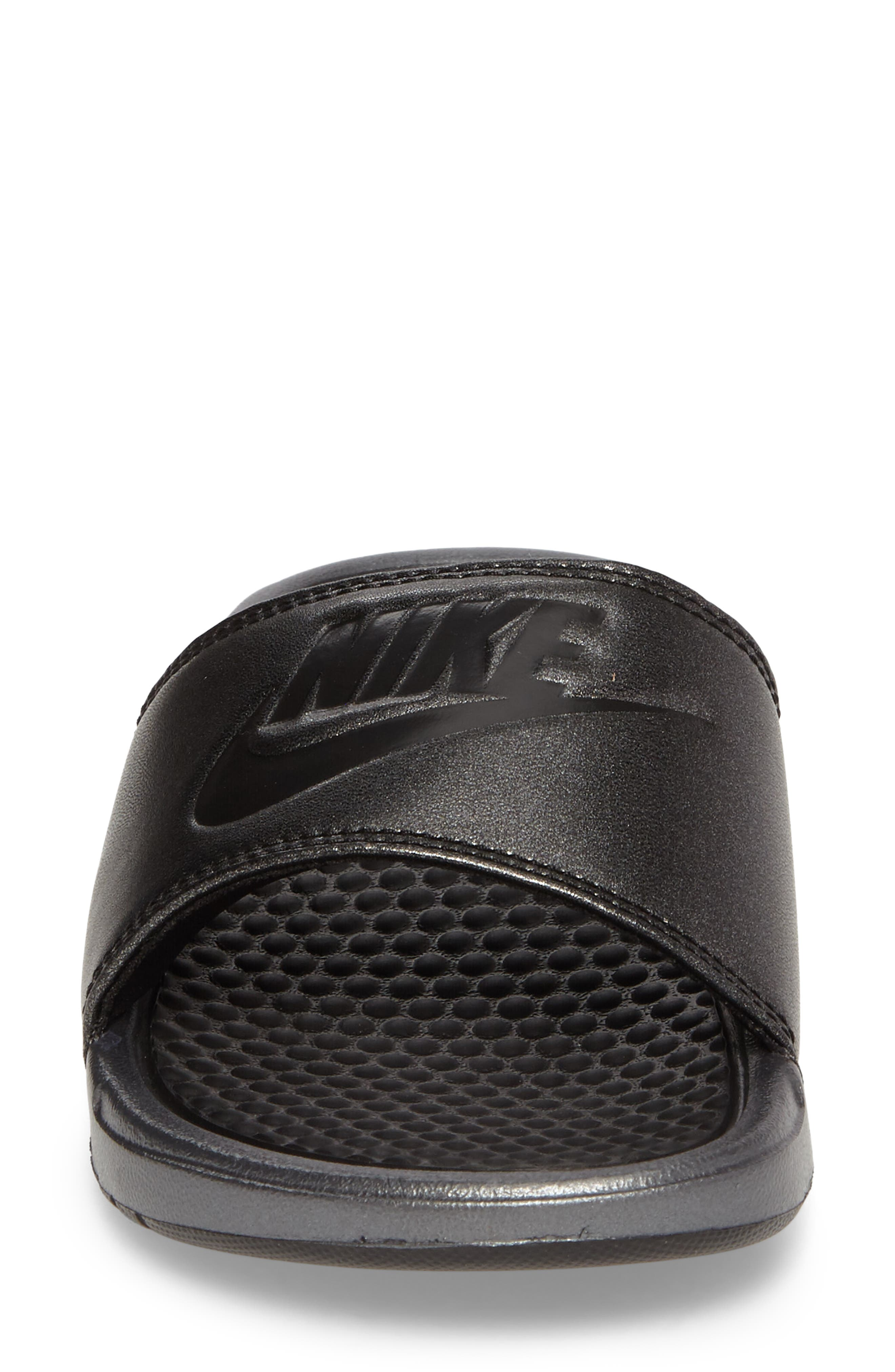Benassi Slide Sandal,                             Alternate thumbnail 4, color,                             001