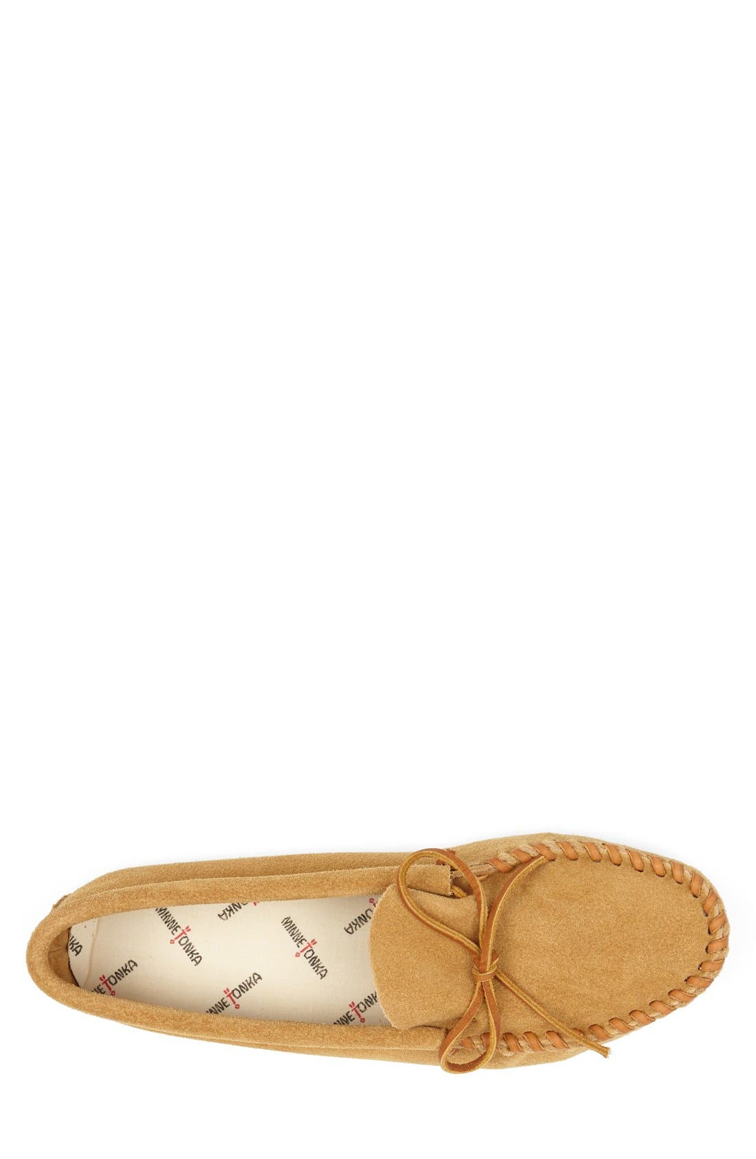 Suede Moccasin,                             Alternate thumbnail 3, color,                             TAN