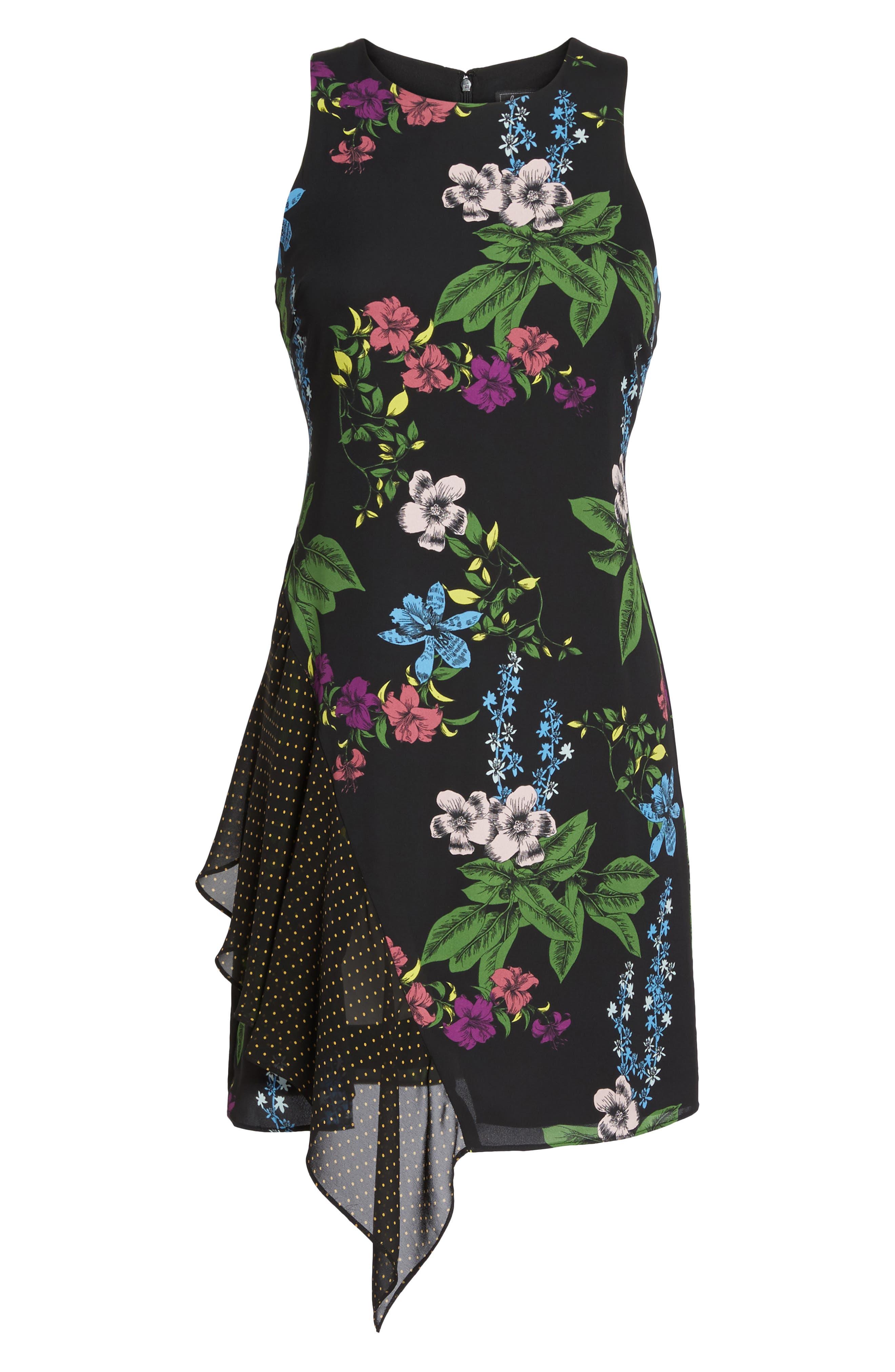 Side Drape Sheath Dress,                             Alternate thumbnail 6, color,