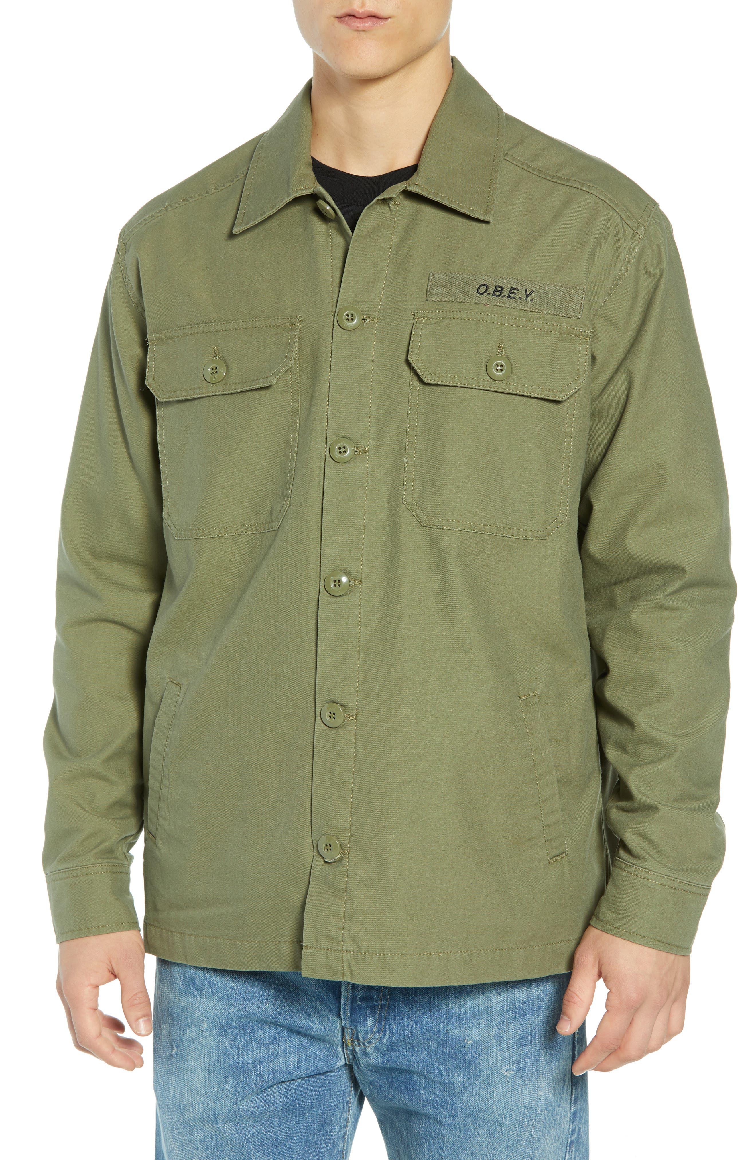Station Shirt Jacket,                             Alternate thumbnail 4, color,                             BURNT OLIVE