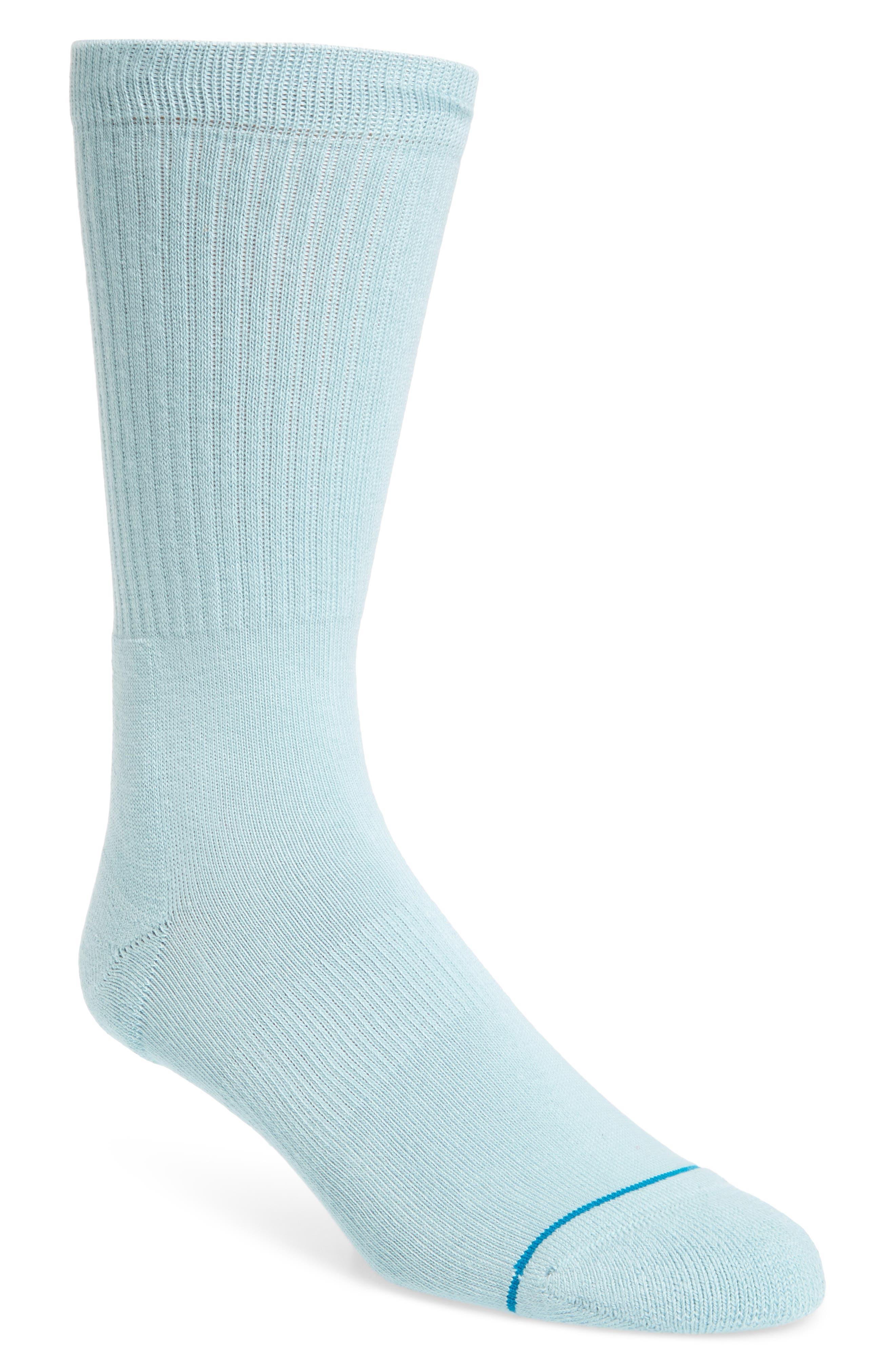 'Icon' Crew Socks,                             Main thumbnail 1, color,                             PASTEL BLUE