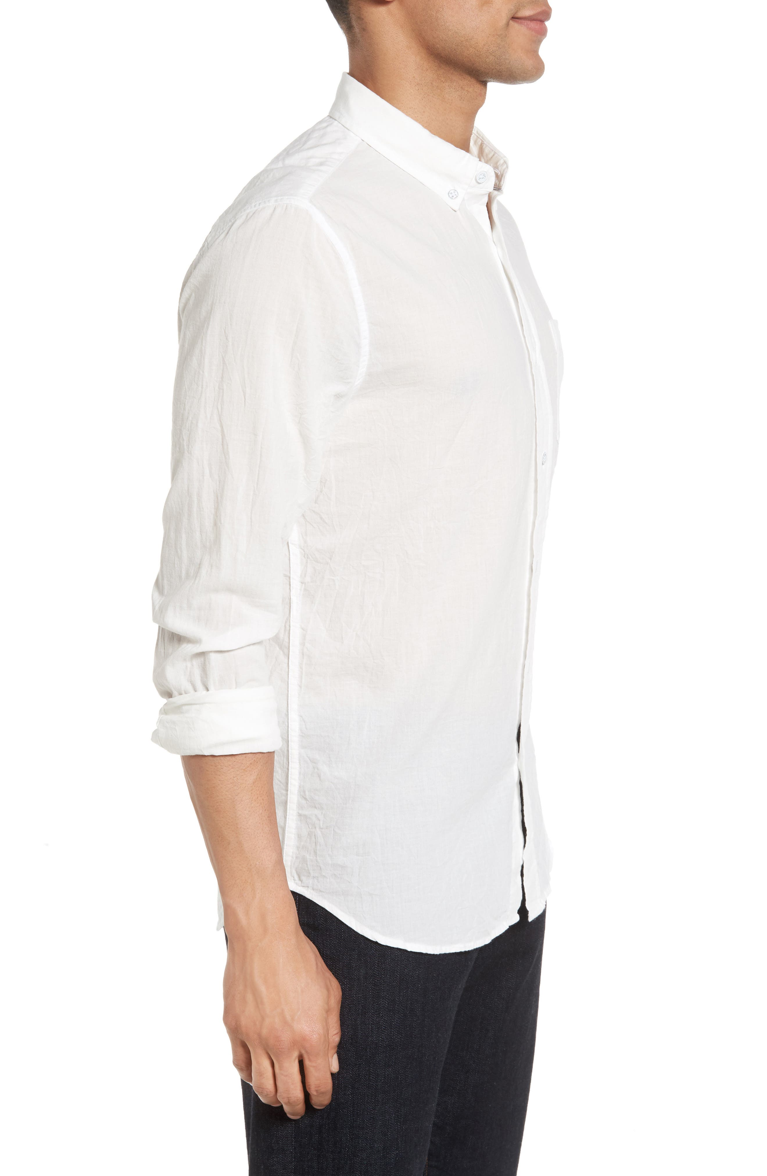 Grady Slim Fit Organic Cotton Sport Shirt,                             Alternate thumbnail 6, color,
