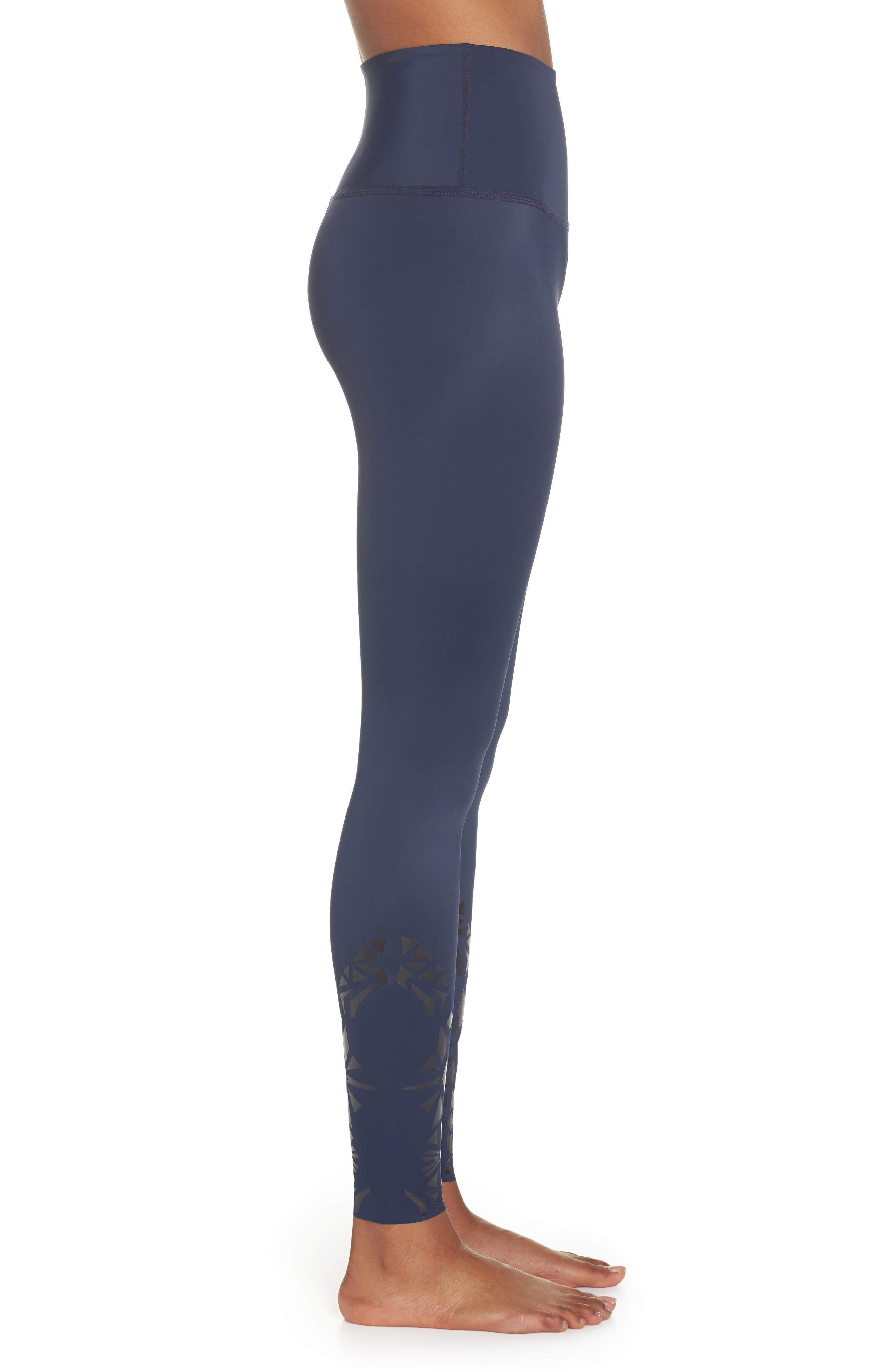 Calico High Waist Leggings,                             Alternate thumbnail 3, color,                             418