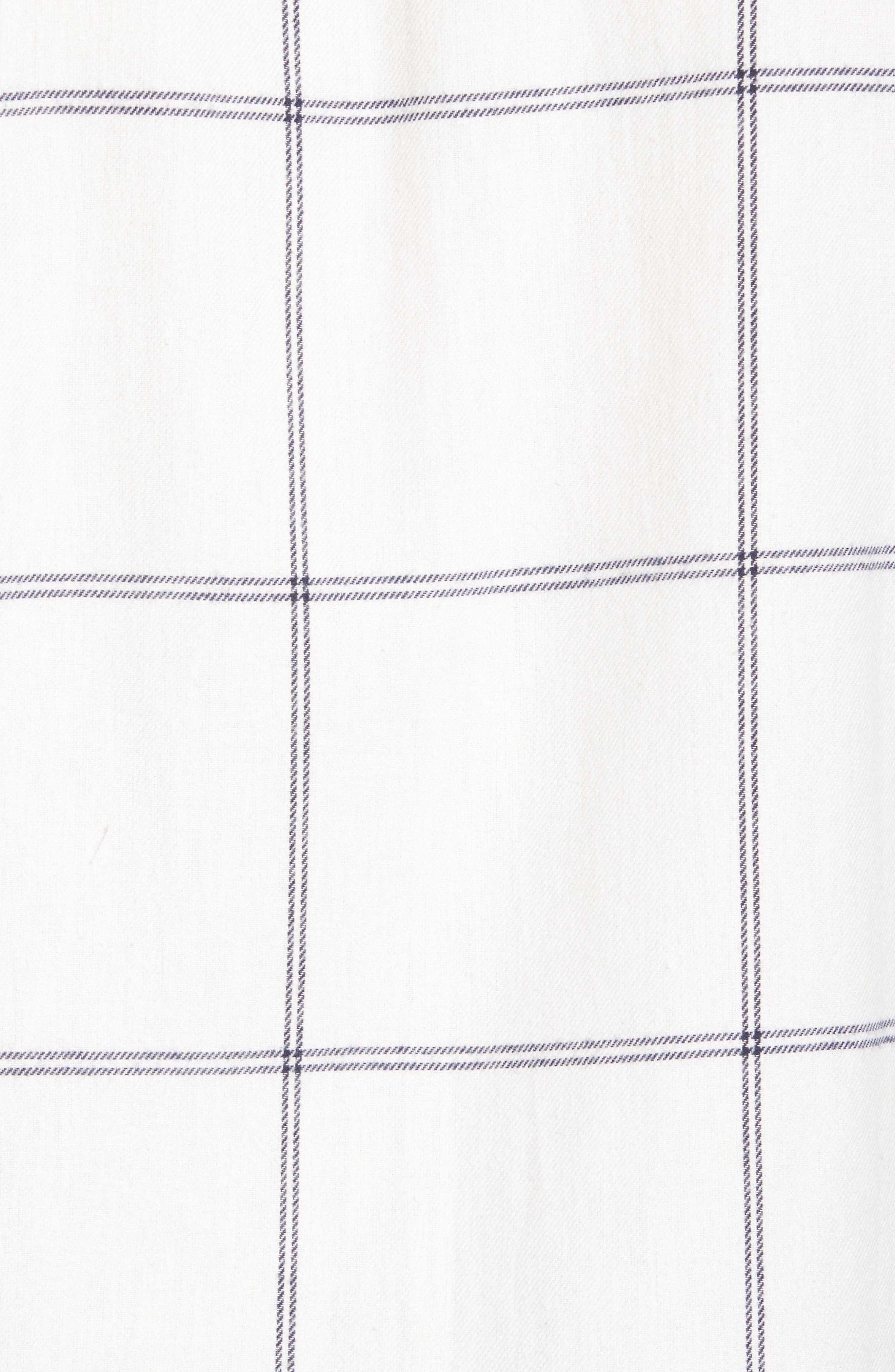 Regular Fit Windowpane Flannel Sport Shirt,                             Alternate thumbnail 5, color,                             900