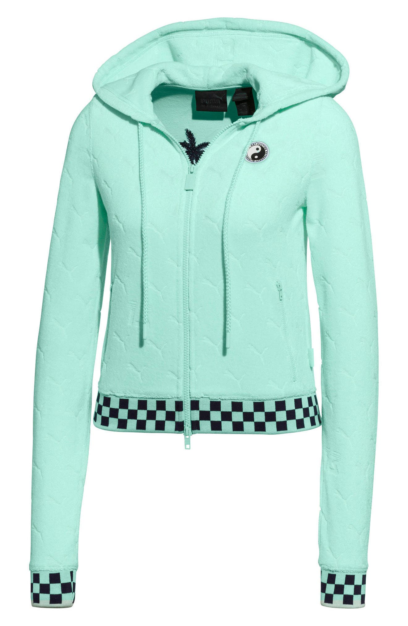 PUMA by Rihanna Embossed Terry Cloth Hoodie,                         Main,                         color, 400