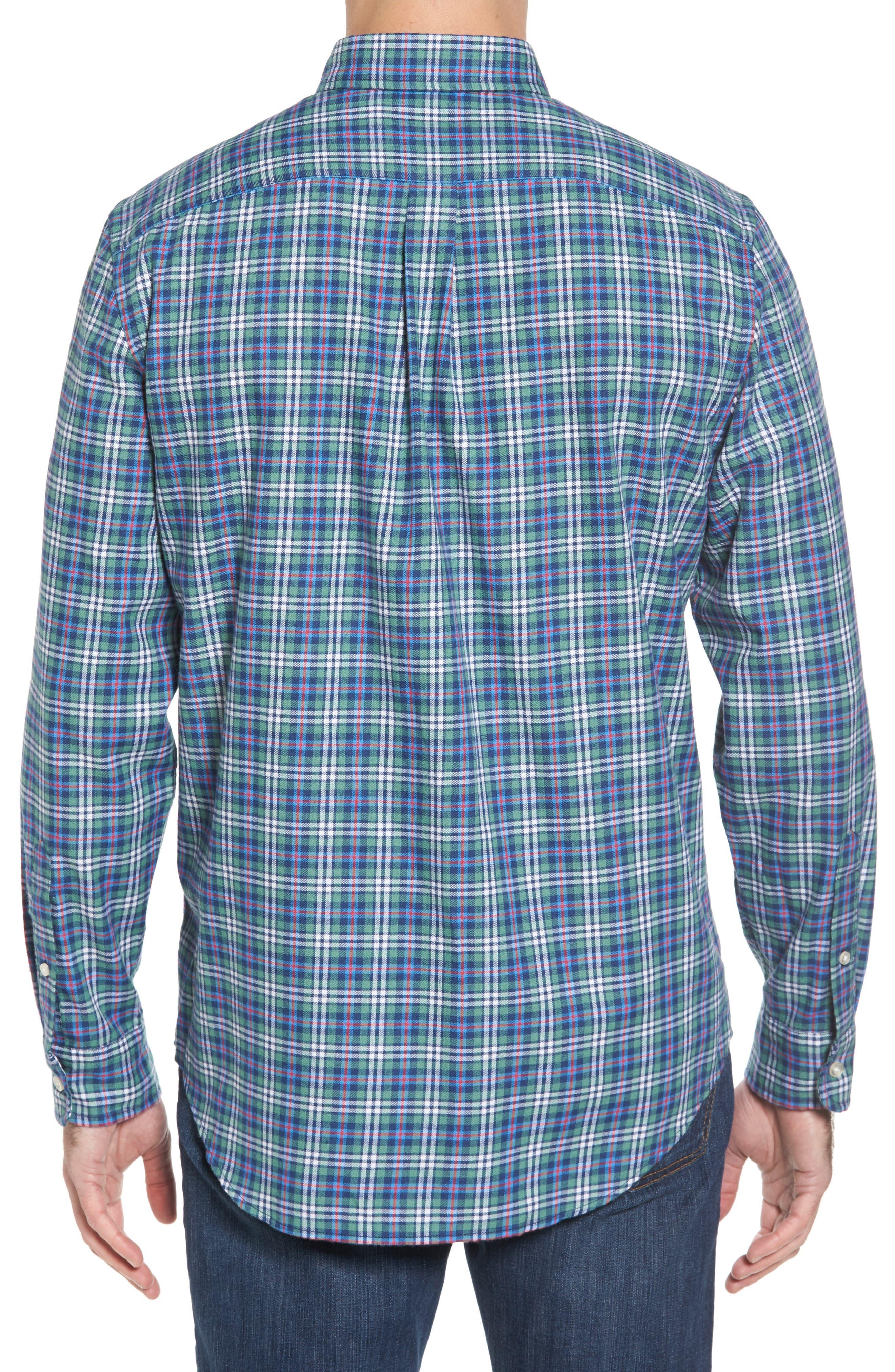 Murray Plaid Classic Fit Sport Shirt,                             Alternate thumbnail 2, color,                             303