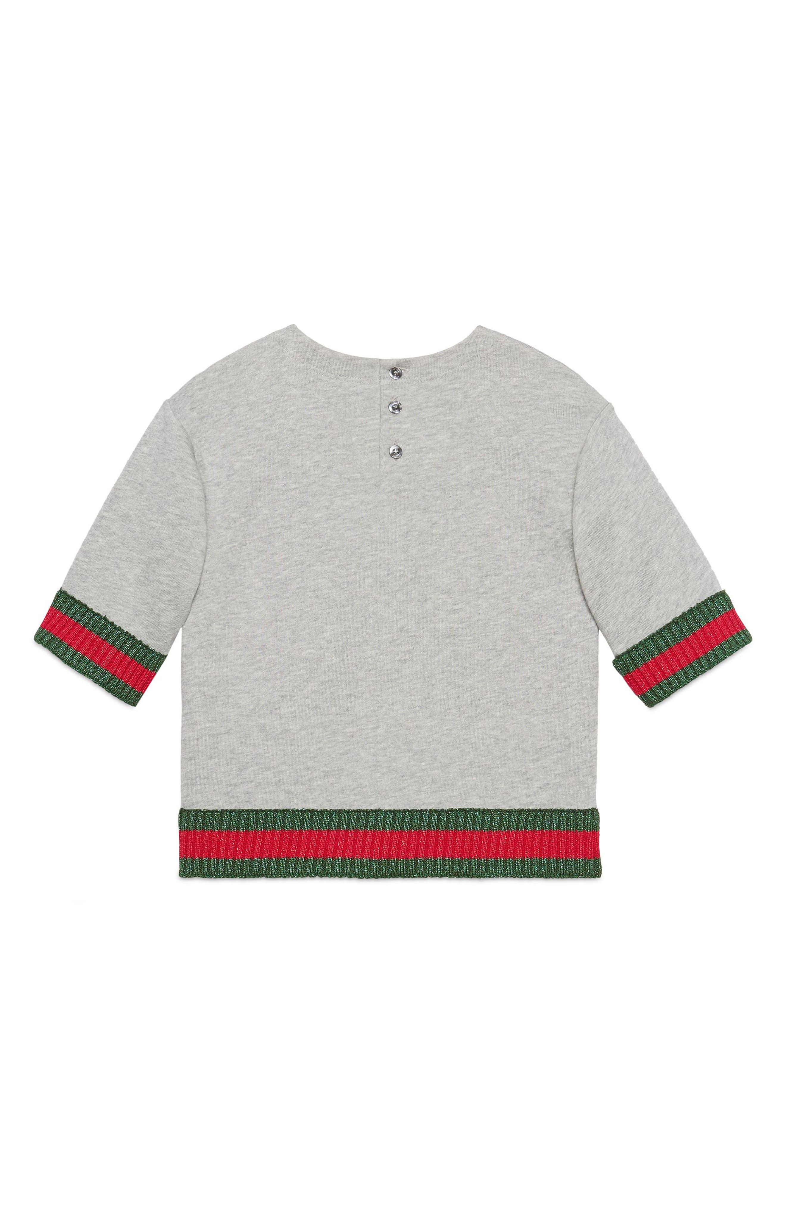 Game Patch Sweatshirt,                             Alternate thumbnail 2, color,                             L.GREY/ MULTICOLOR