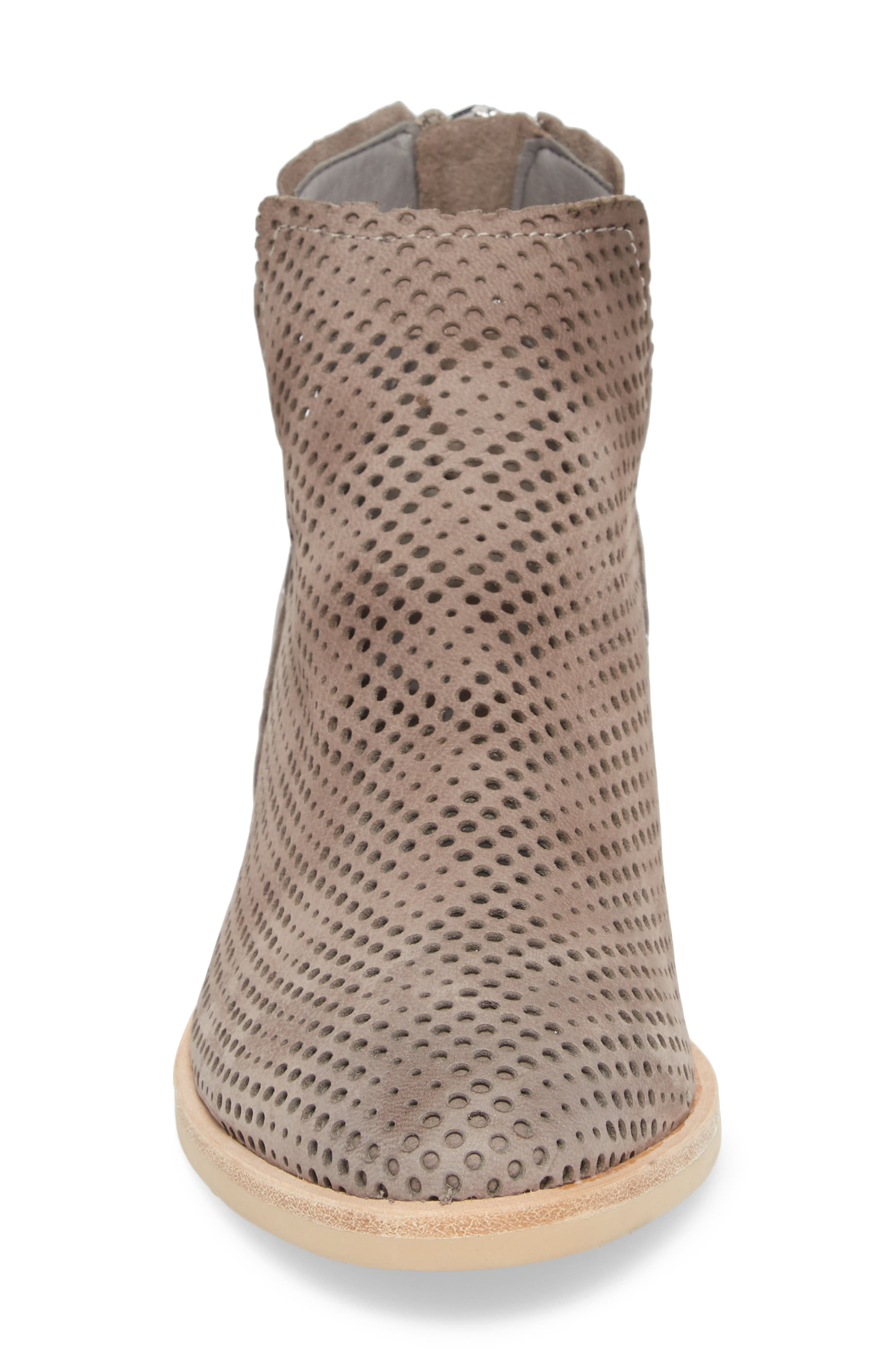 Tommi Perforated Bootie,                             Alternate thumbnail 4, color,                             SMOKE NUBUCK