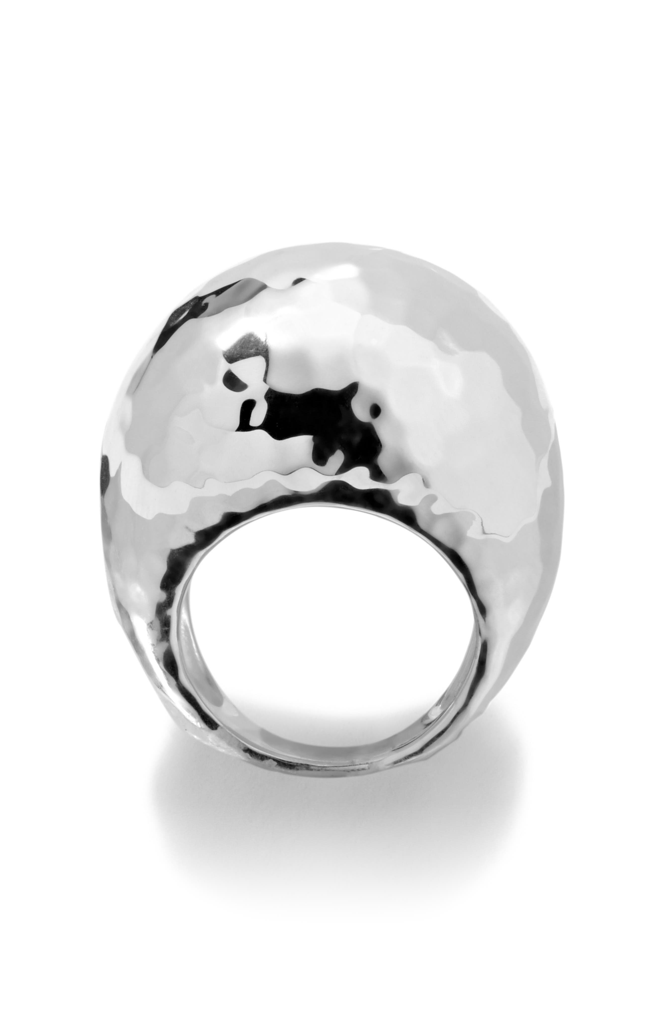 'Glamazon' Large Hammered Dome Ring,                             Alternate thumbnail 2, color,                             049