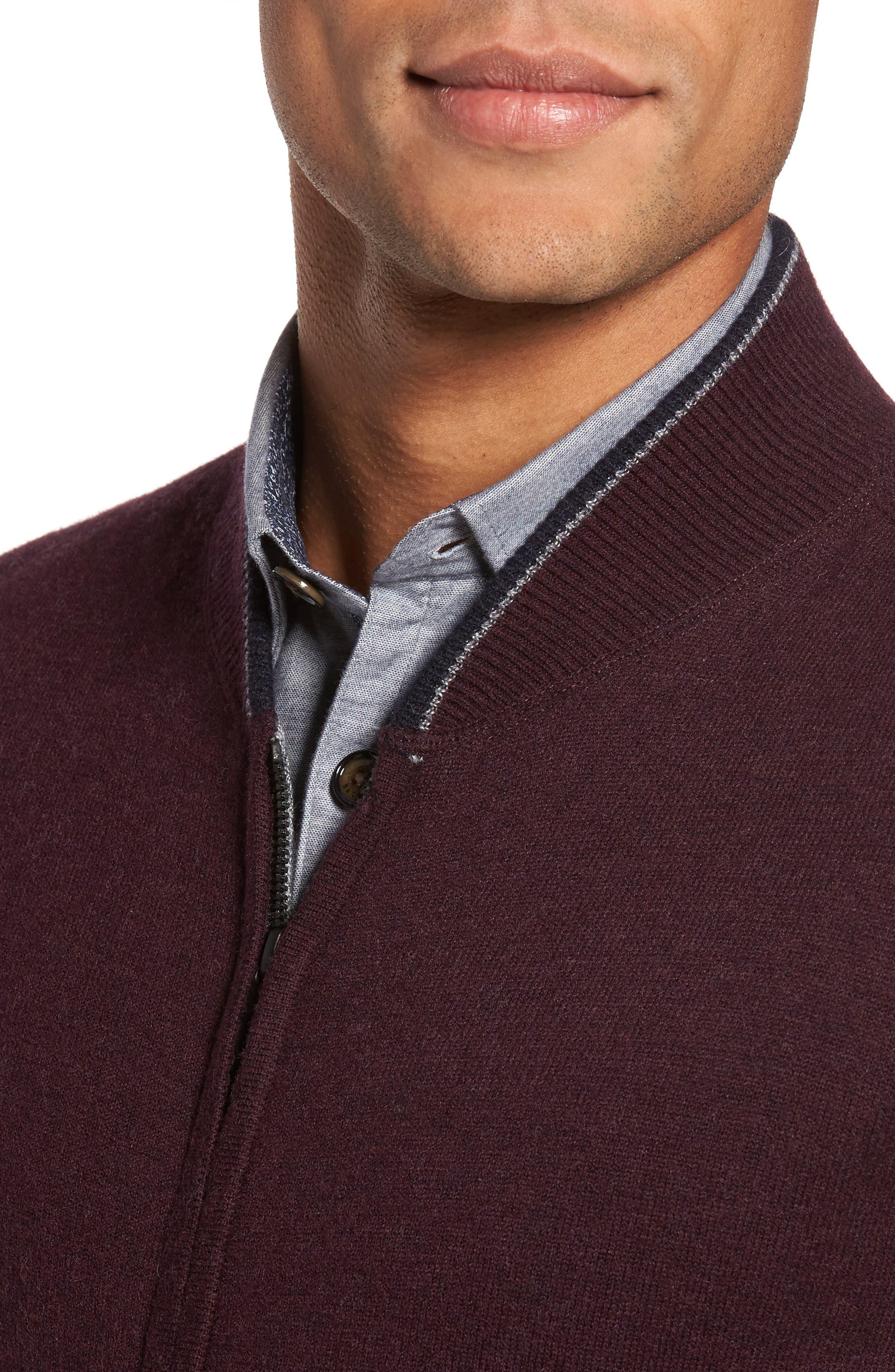 Merino Wool Baseball Sweater,                             Alternate thumbnail 8, color,