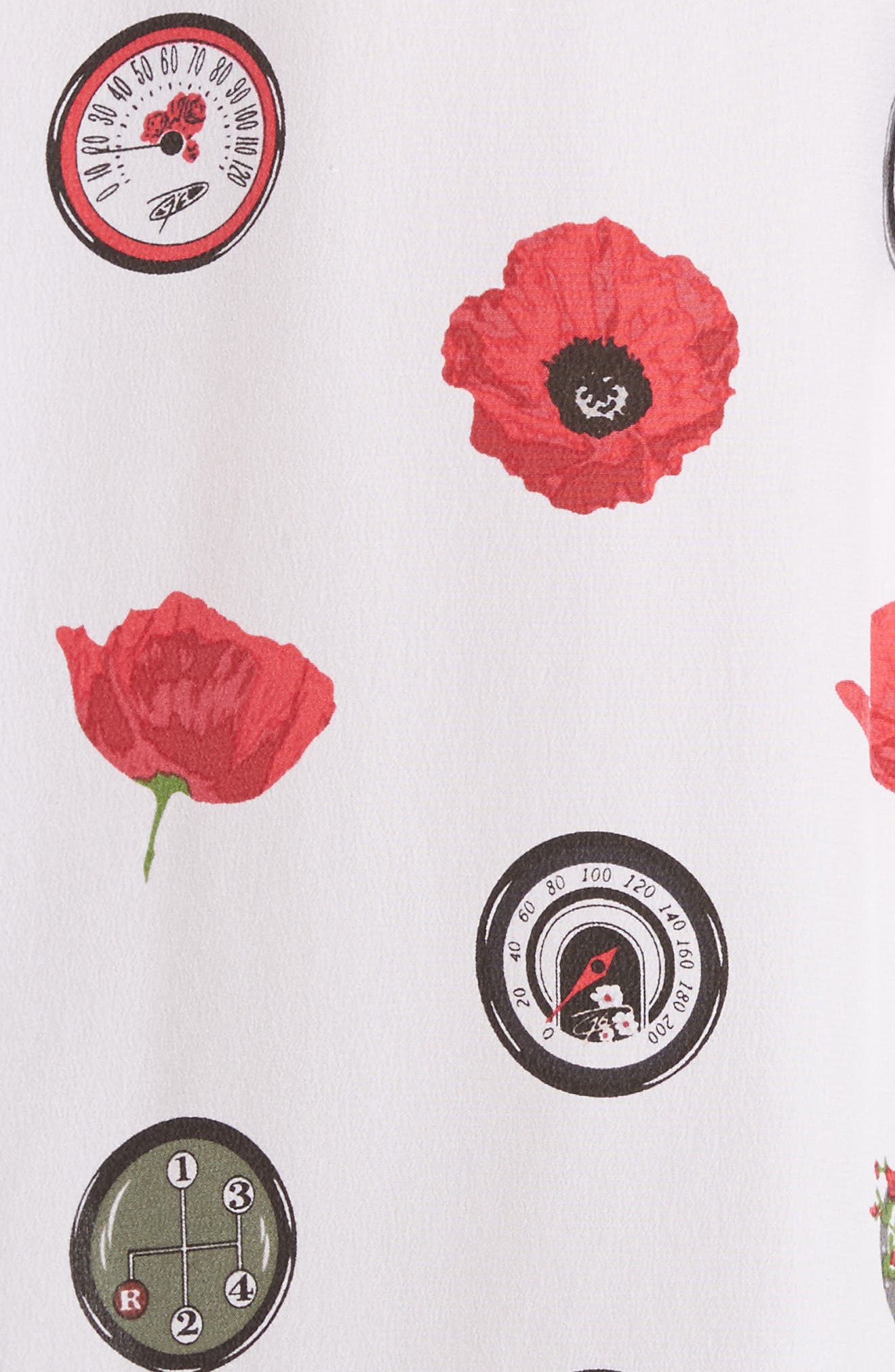 Signature Print Silk Shirt,                             Alternate thumbnail 5, color,