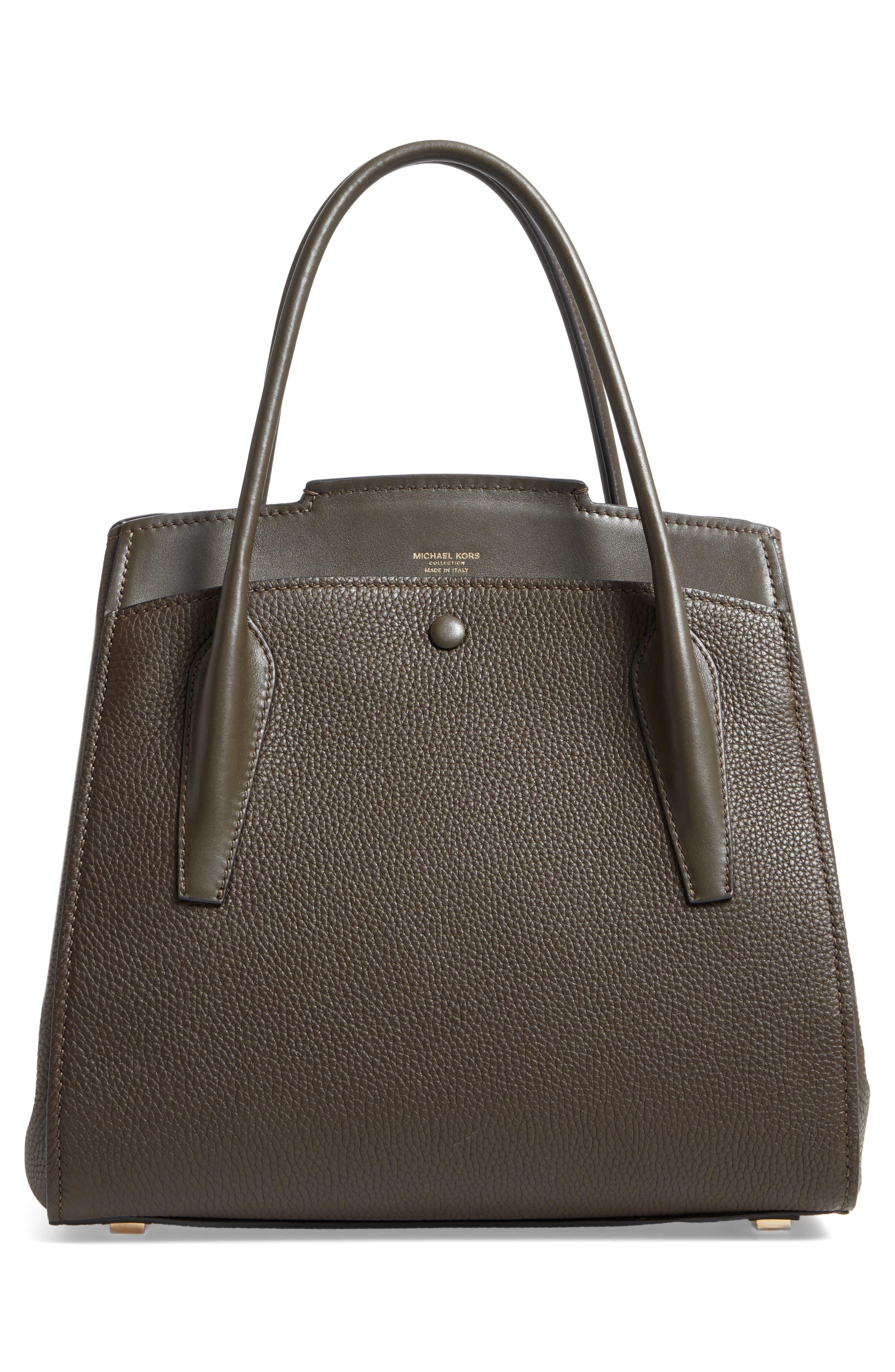 Large Bancroft Leather Top Handle Satchel,                             Alternate thumbnail 9, color,