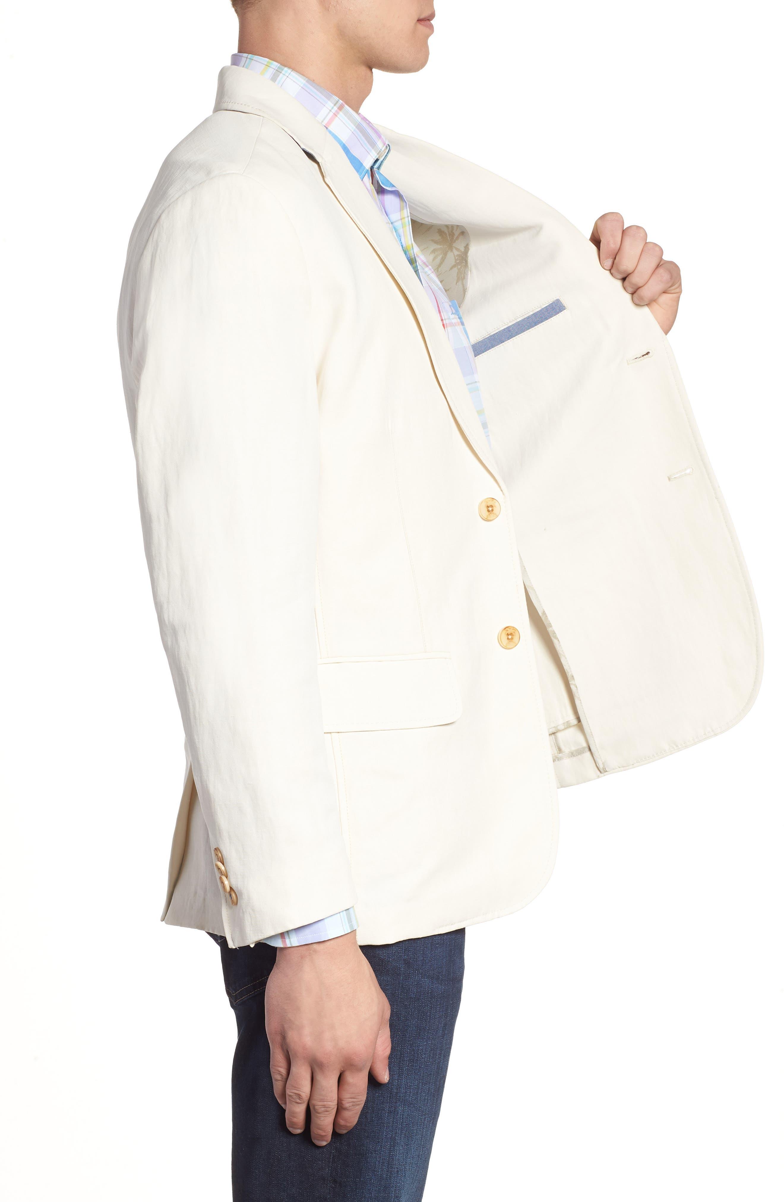 TOMMY BAHAMA,                             Monterey Silk & Linen Blazer,                             Alternate thumbnail 3, color,                             WARM SAND