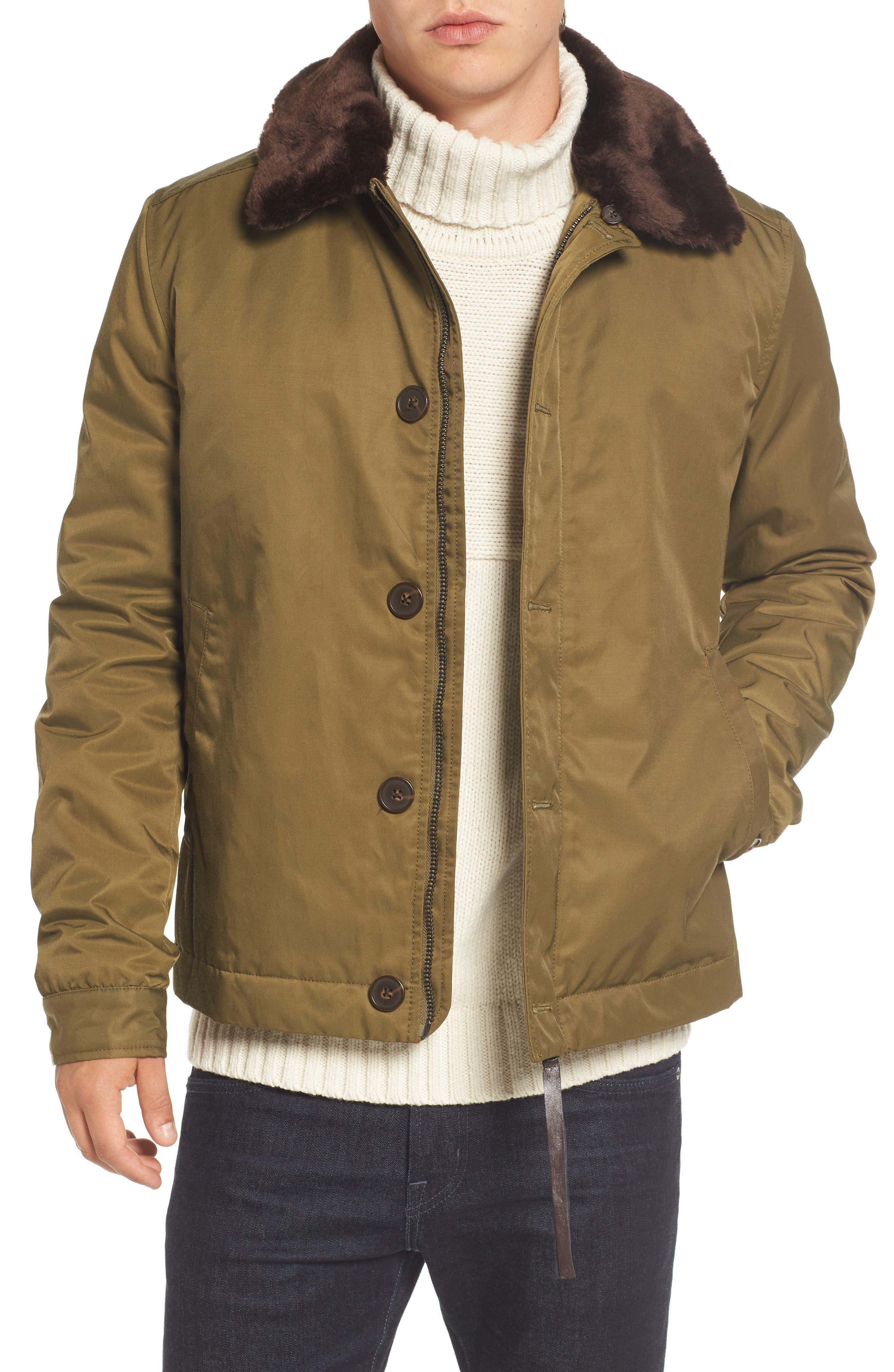 Bystander Jacket with Faux Fur Collar,                         Main,                         color, 346